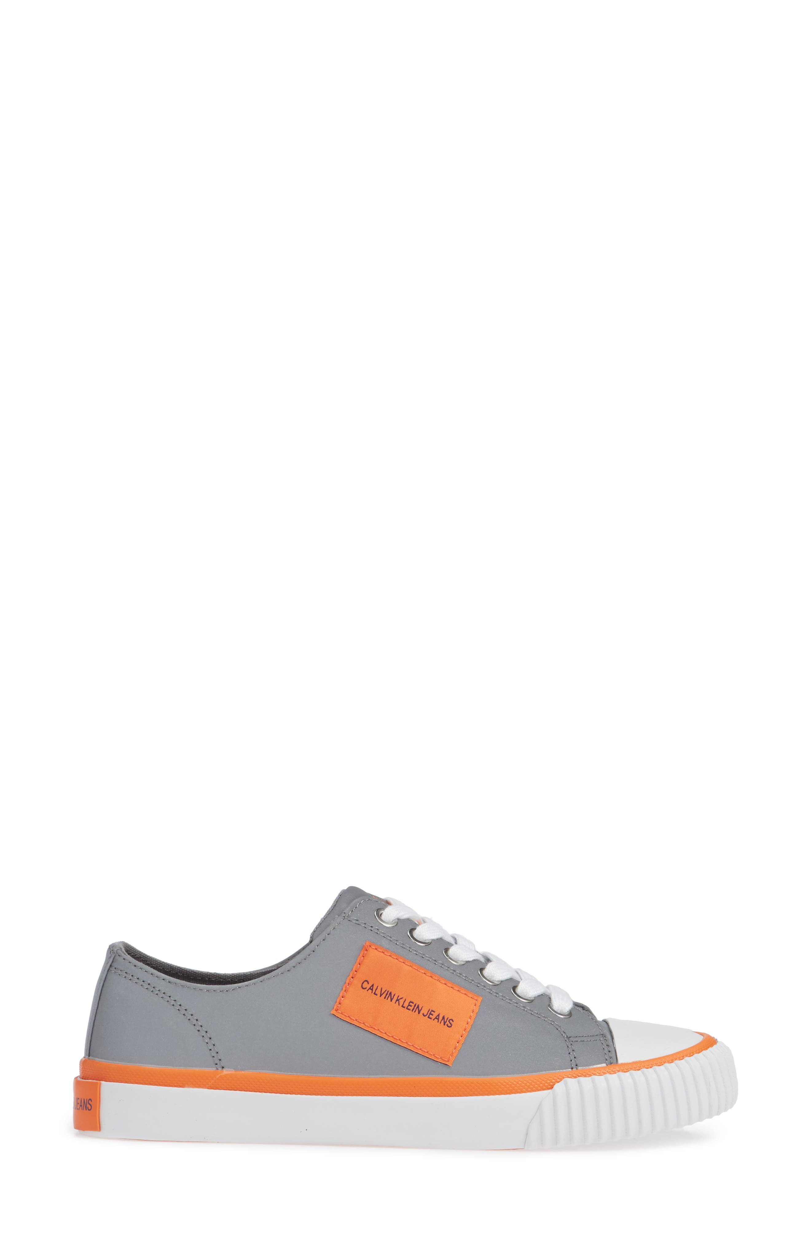 Ivory Lace-Up Sneaker,                             Alternate thumbnail 3, color,                             SILVER