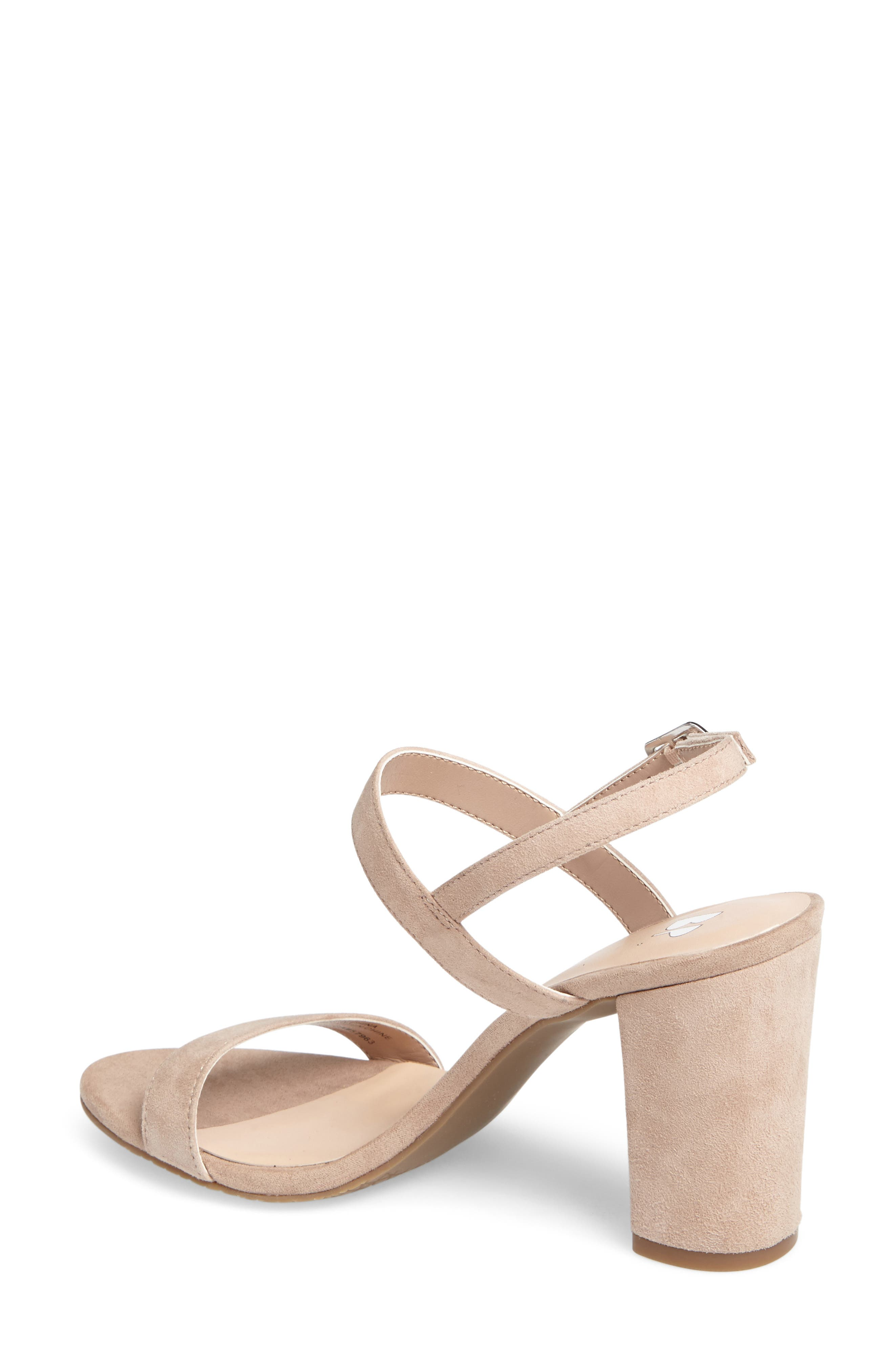 Lula Block Heel Slingback Sandal,                             Alternate thumbnail 2, color,                             BLUSH SUEDE