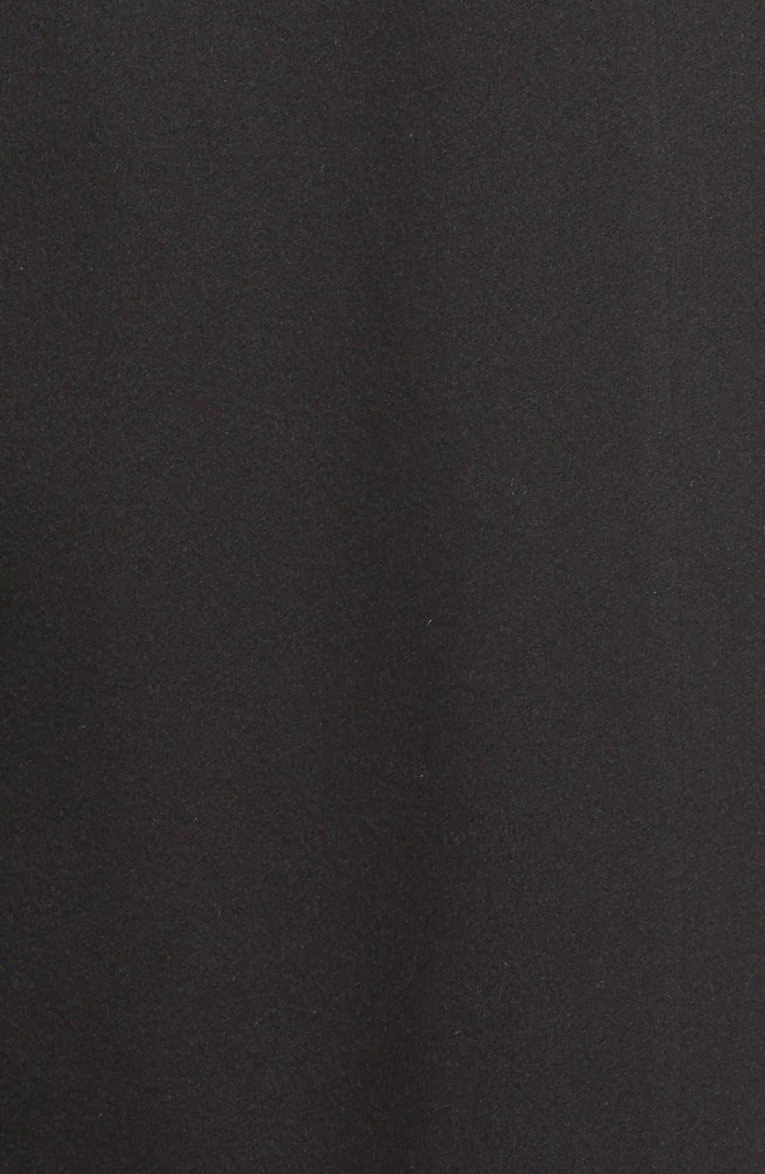 Notch Collar Long Cashmere Wrap Coat,                             Alternate thumbnail 3, color,                             001