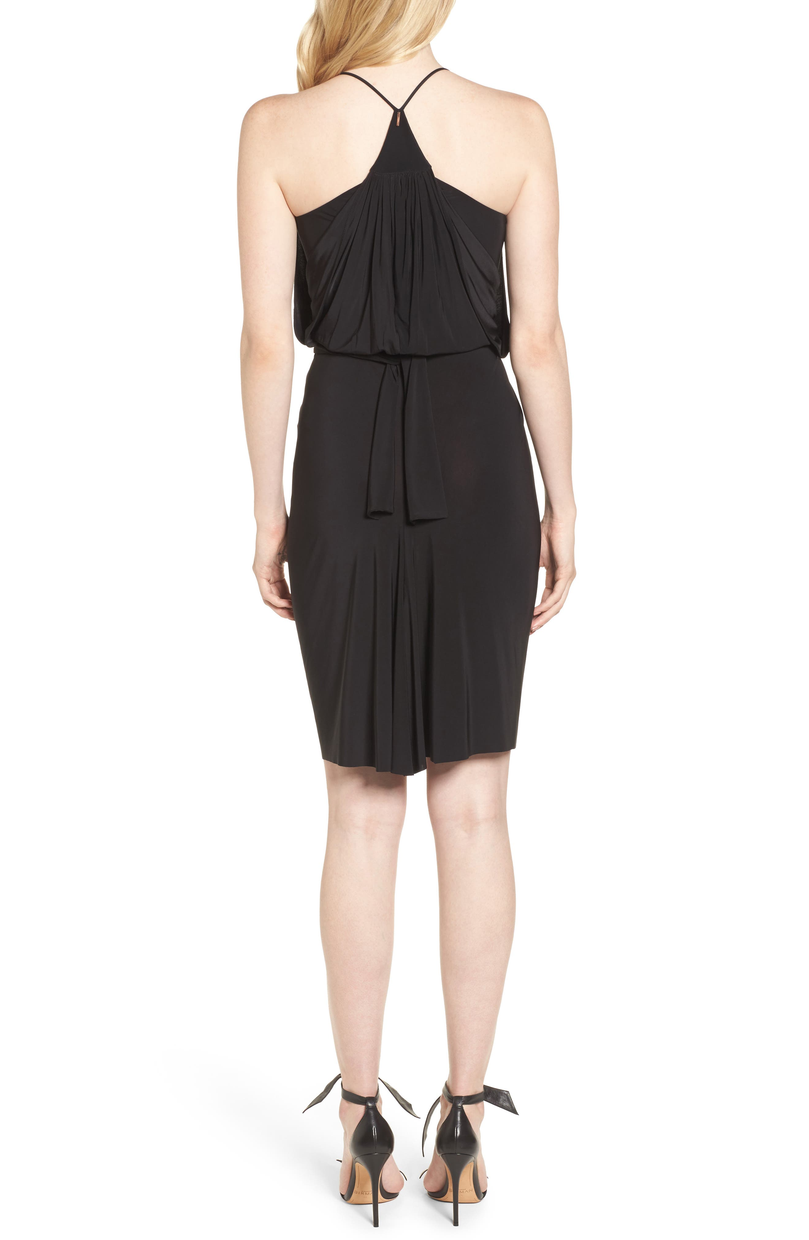 MISA LOS ANGELES,                             Domino Dress,                             Alternate thumbnail 2, color,                             001