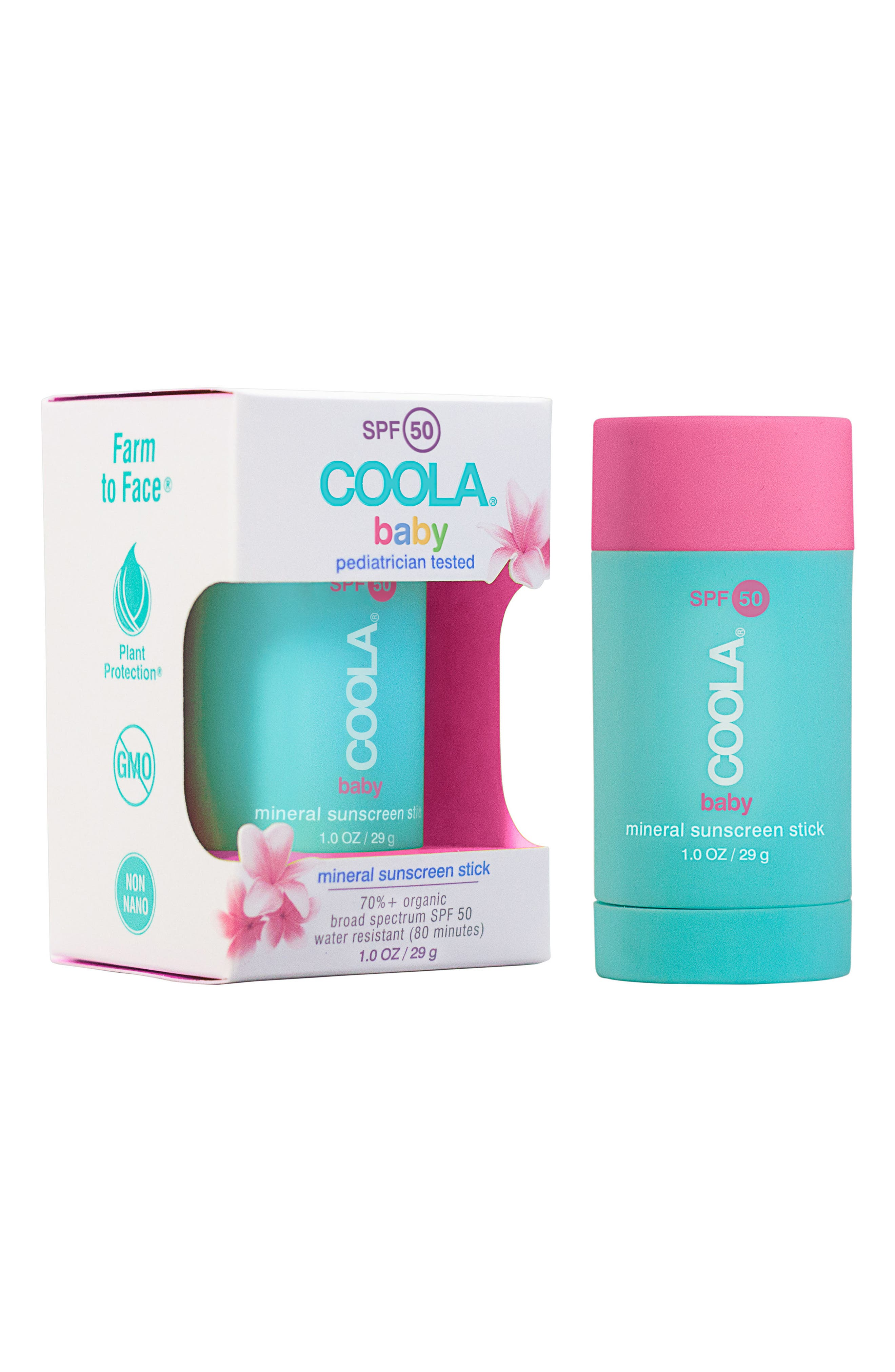 COOLA<sup>®</sup> Suncare Baby Mineral Sunscreen Stick SPF 50,                             Alternate thumbnail 2, color,                             001