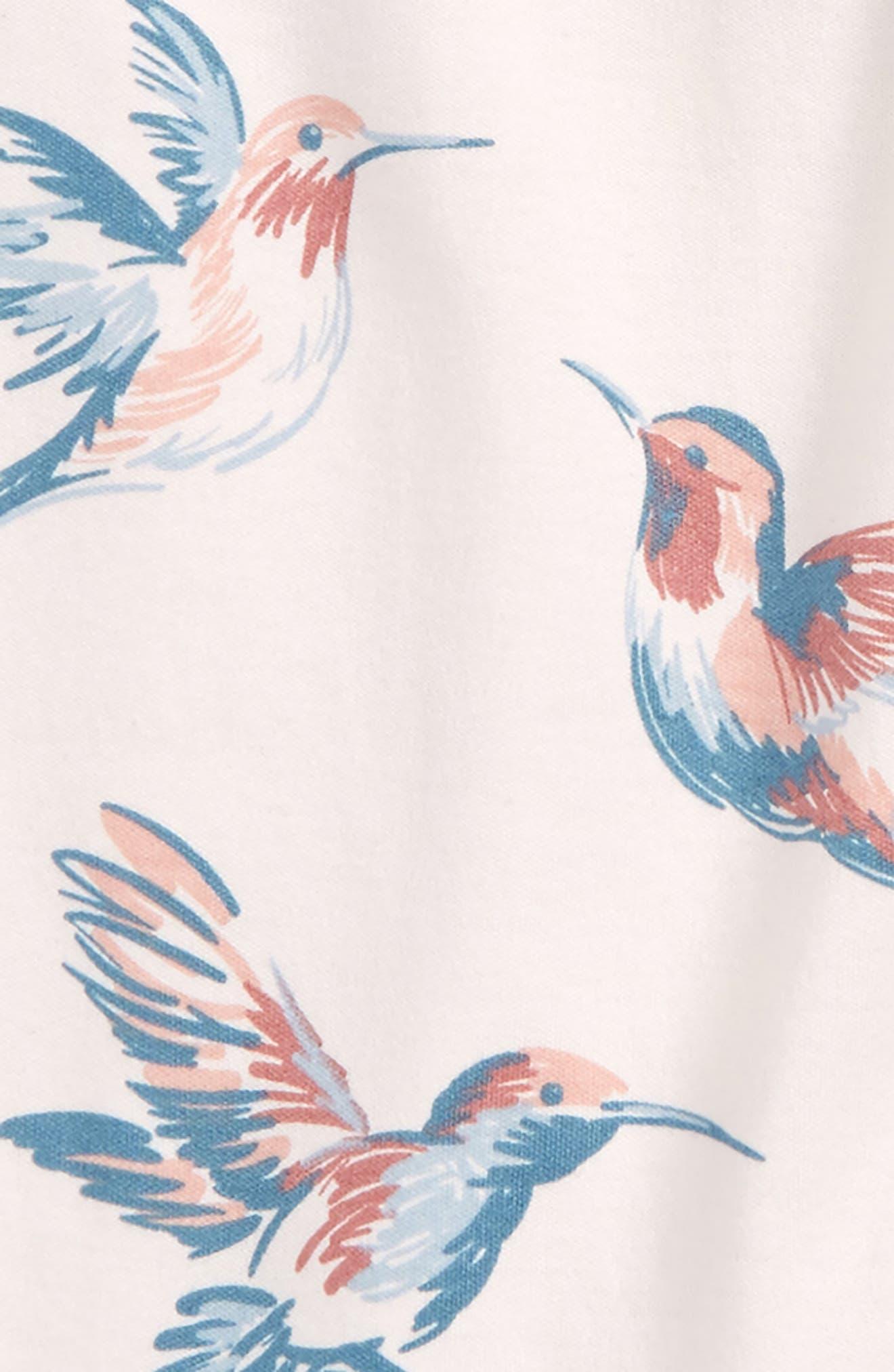 Hummingbirds Organic Cotton Romper,                             Alternate thumbnail 2, color,                             100