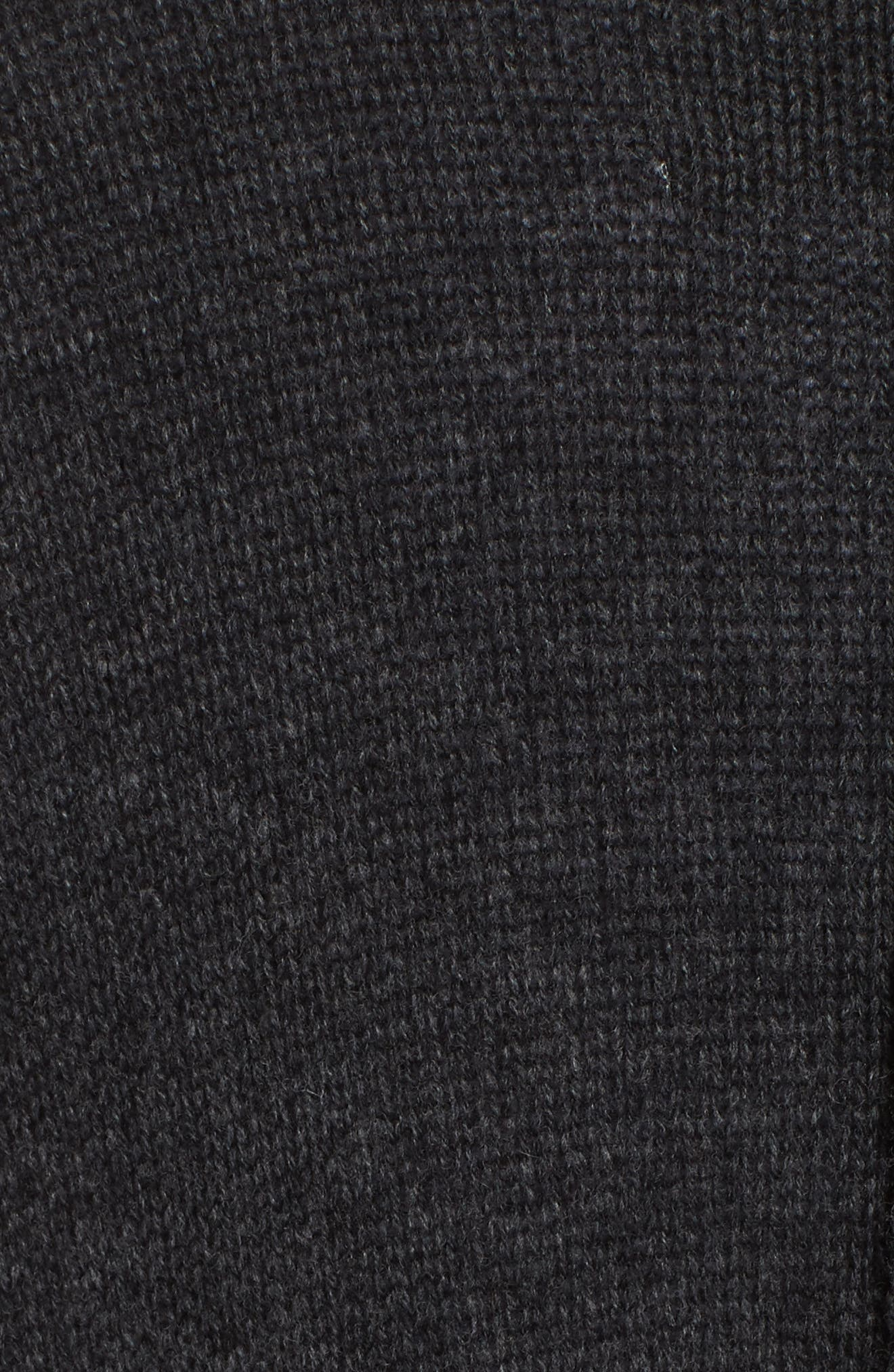Orial Wool Cashmere Duster,                             Alternate thumbnail 5, color,                             CHARCOAL
