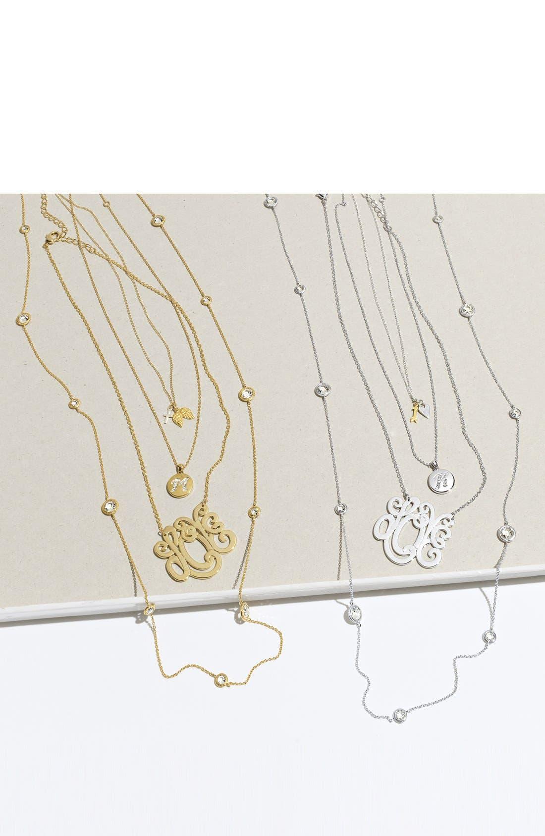 NADRI,                             Boxed Initial Pendant Necklace,                             Alternate thumbnail 4, color,                             040