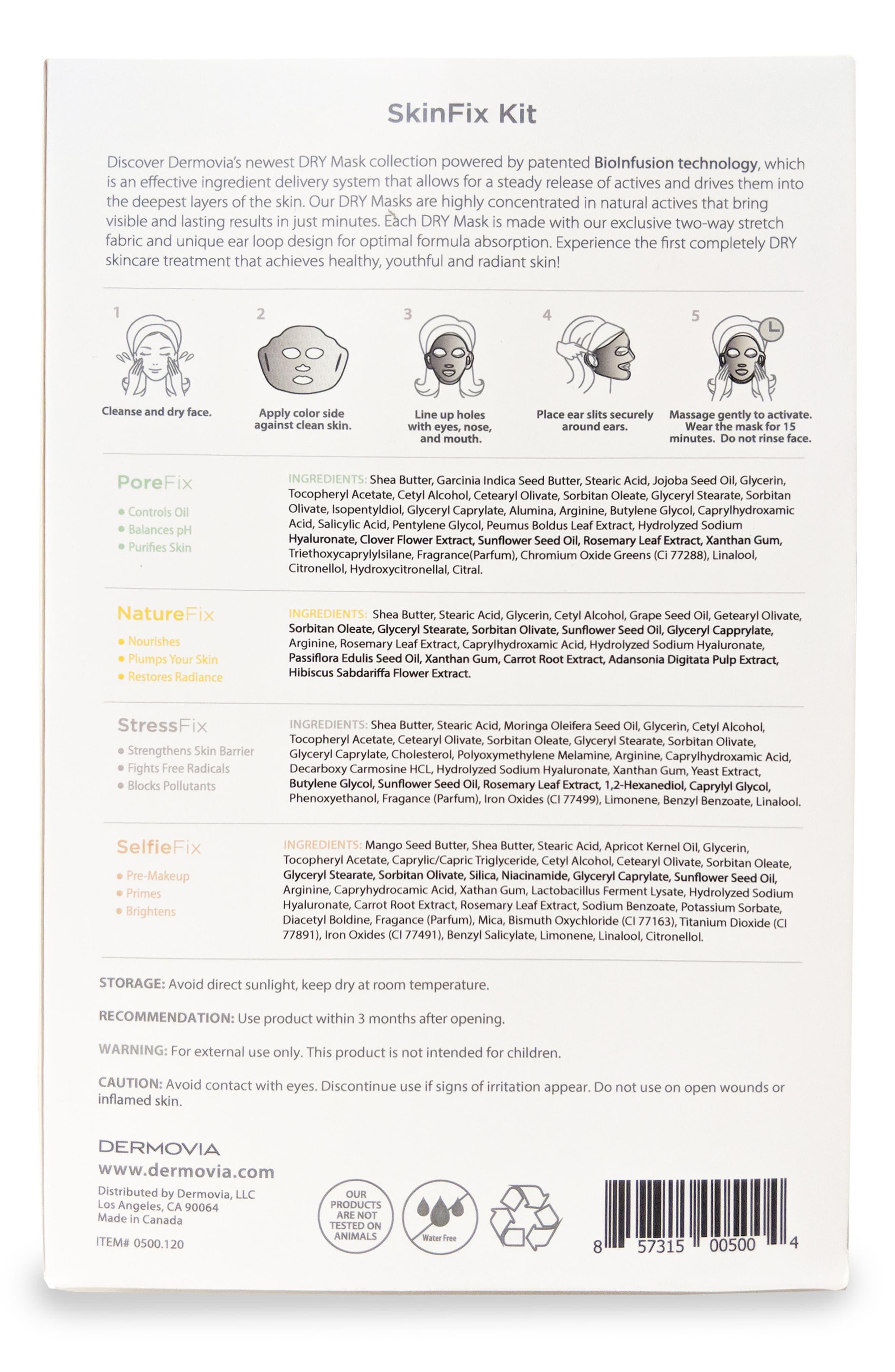 x Dr. Pimple Popper DRY Mask Waterless Facial Mask SkinFix Kit,                             Alternate thumbnail 3, color,                             000