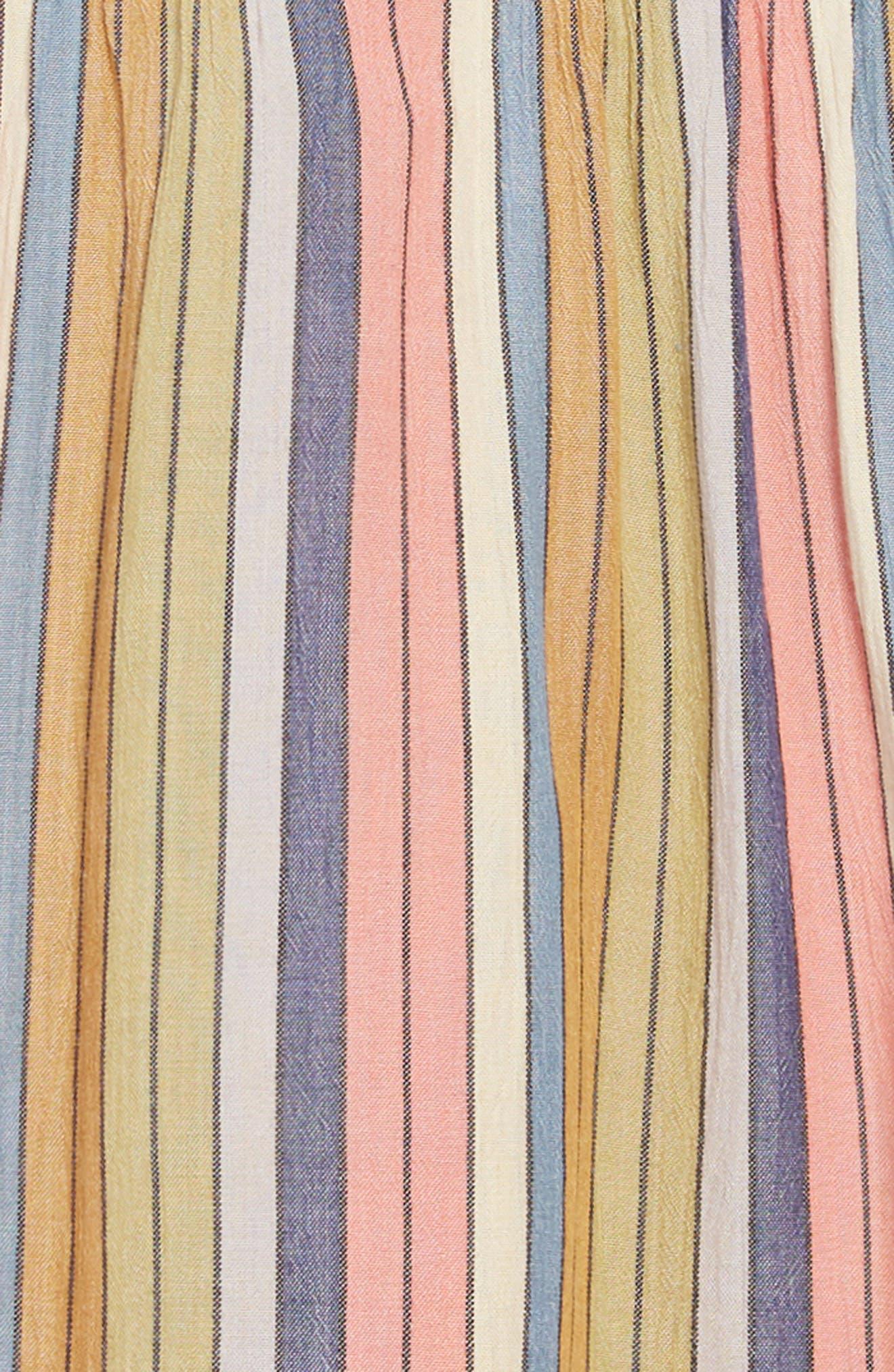 O'NEILL,                             Berlin Stripe Sundress,                             Alternate thumbnail 5, color,                             MULTI COLORED