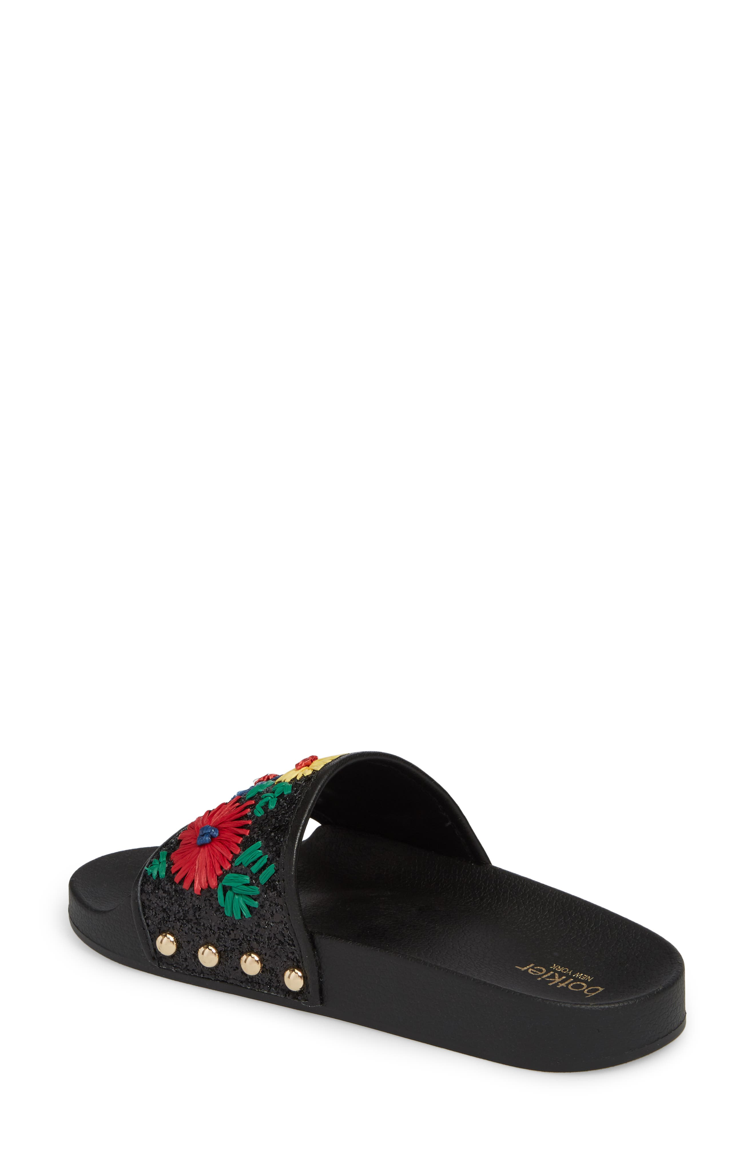 Daisy Slide Sandal,                             Alternate thumbnail 2, color,                             BRIGHT FLORAL PRINT