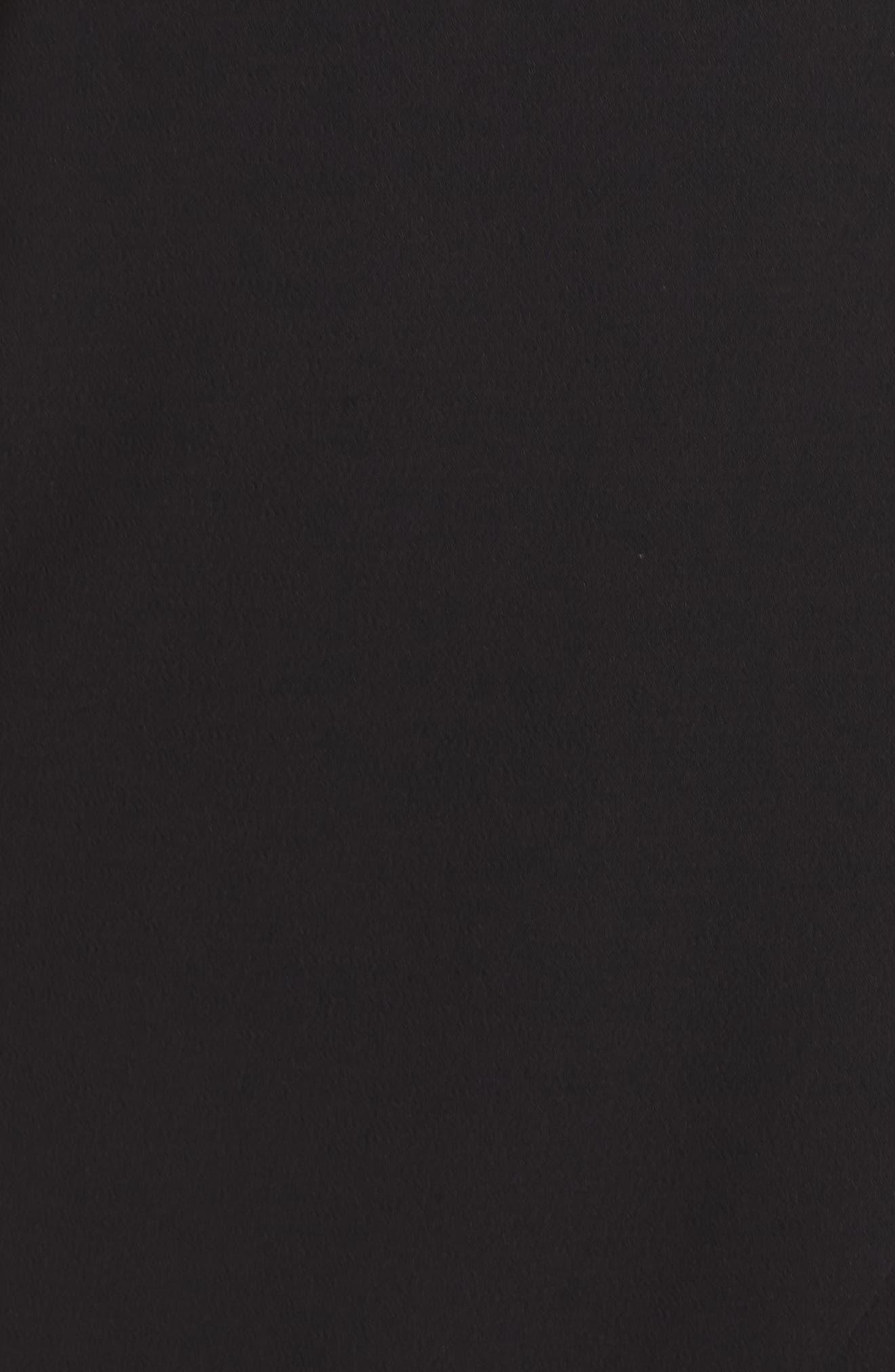 Off the Shoulder Ruffle Midi Dress,                             Alternate thumbnail 6, color,                             BLACK