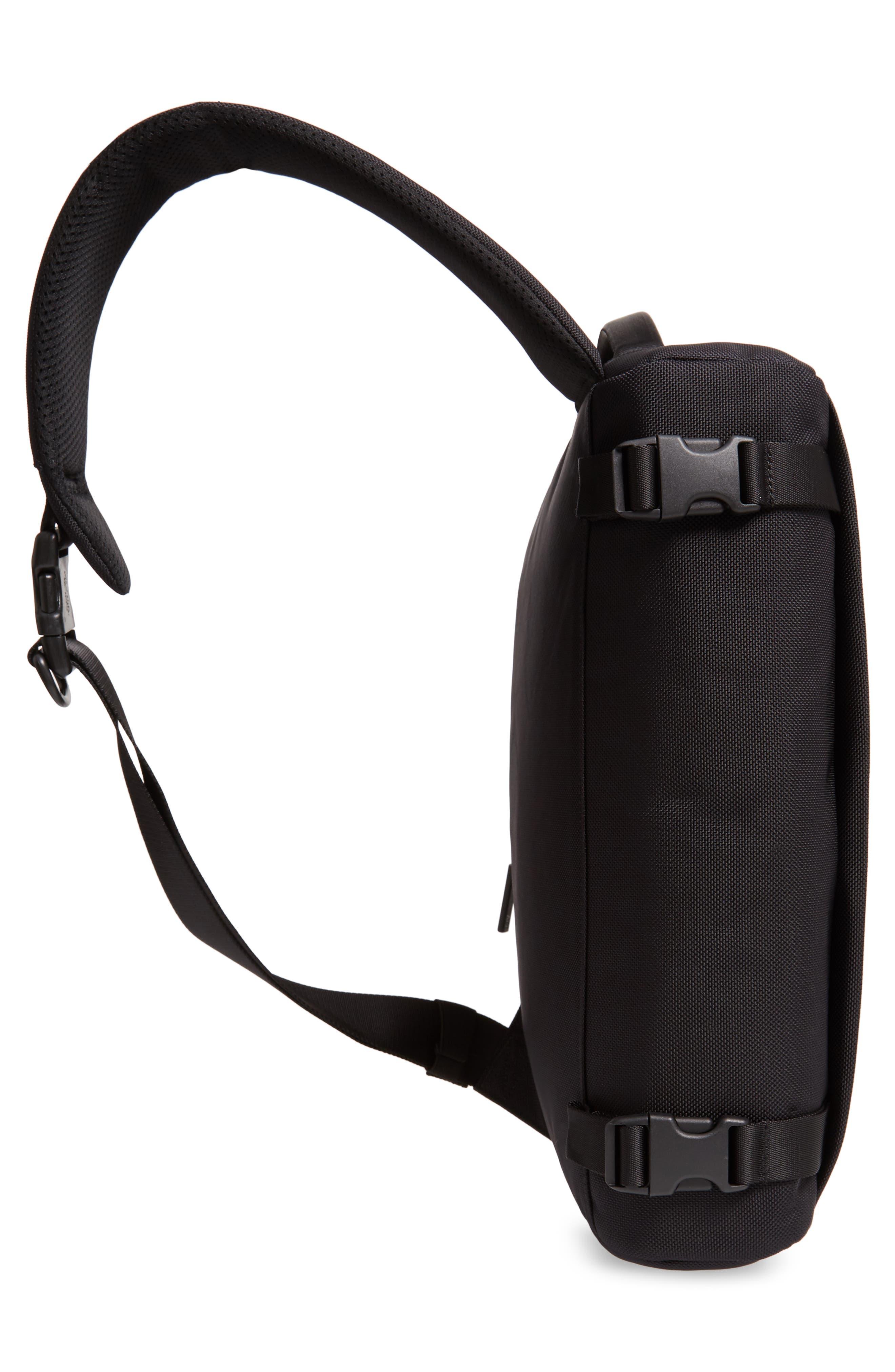 Travel Sling Crossbody Bag,                             Alternate thumbnail 5, color,                             BLACK