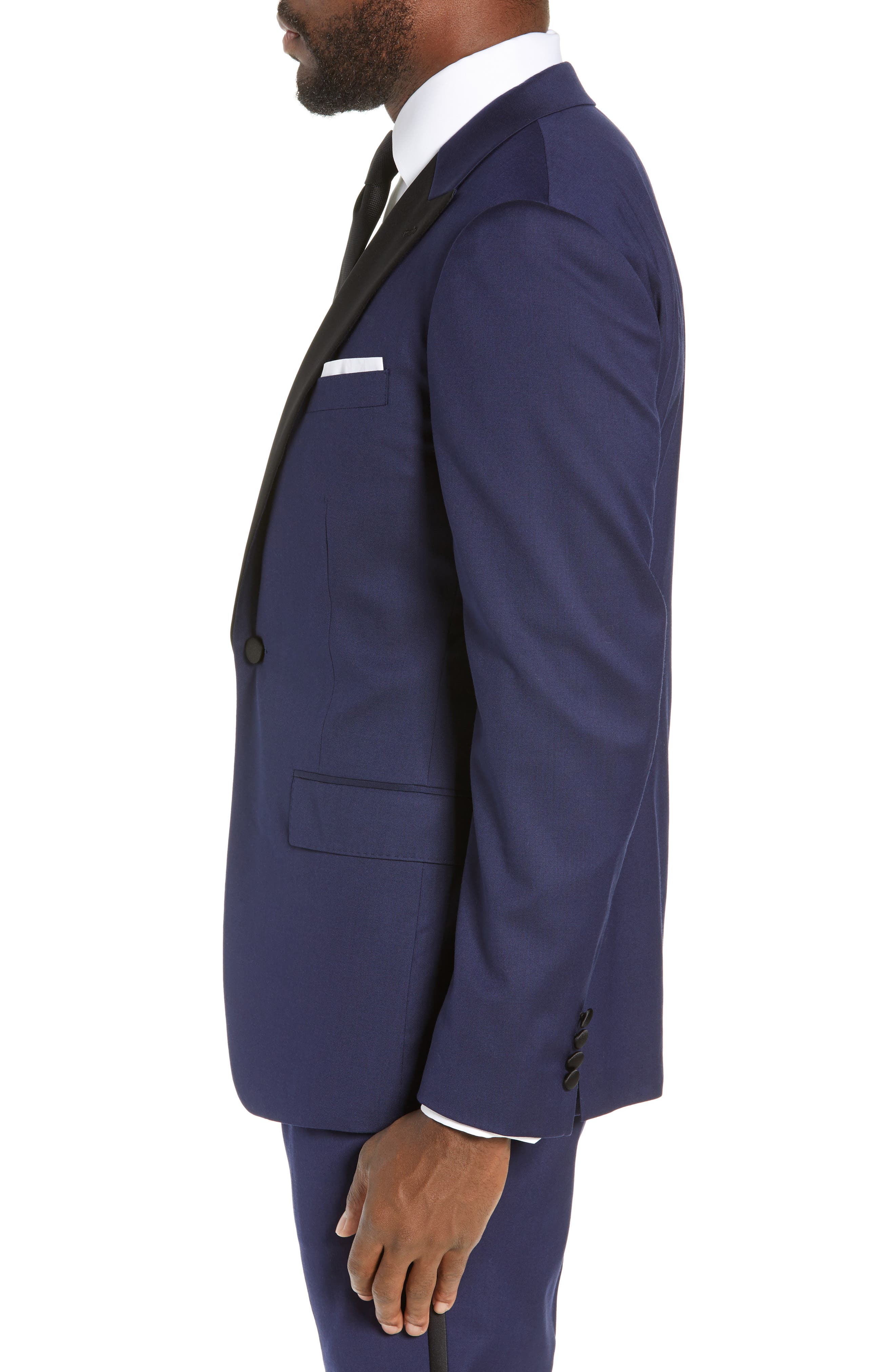 Capstone Slim Fit Italian Wool Blend Dinner Jacket,                             Alternate thumbnail 3, color,                             NAVY