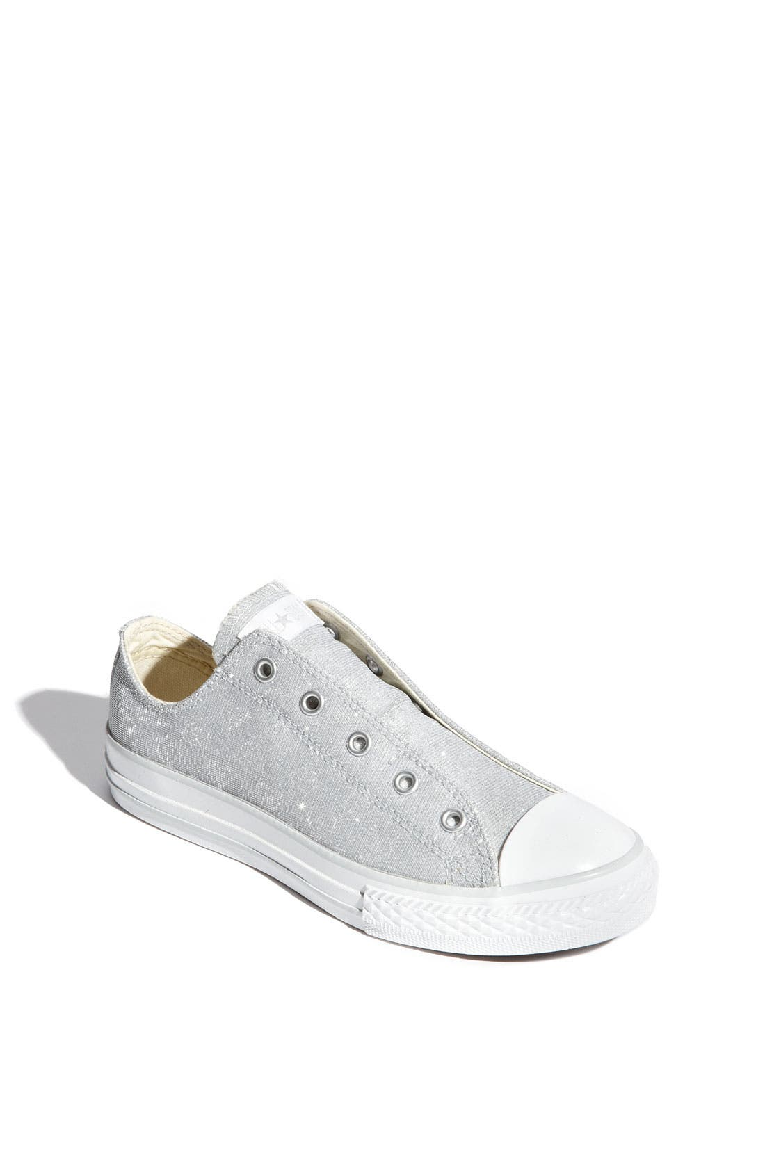 CONVERSE Chuck Taylor<sup>®</sup> 'Holographic Hearts' Slip-On Sneaker, Main, color, 040