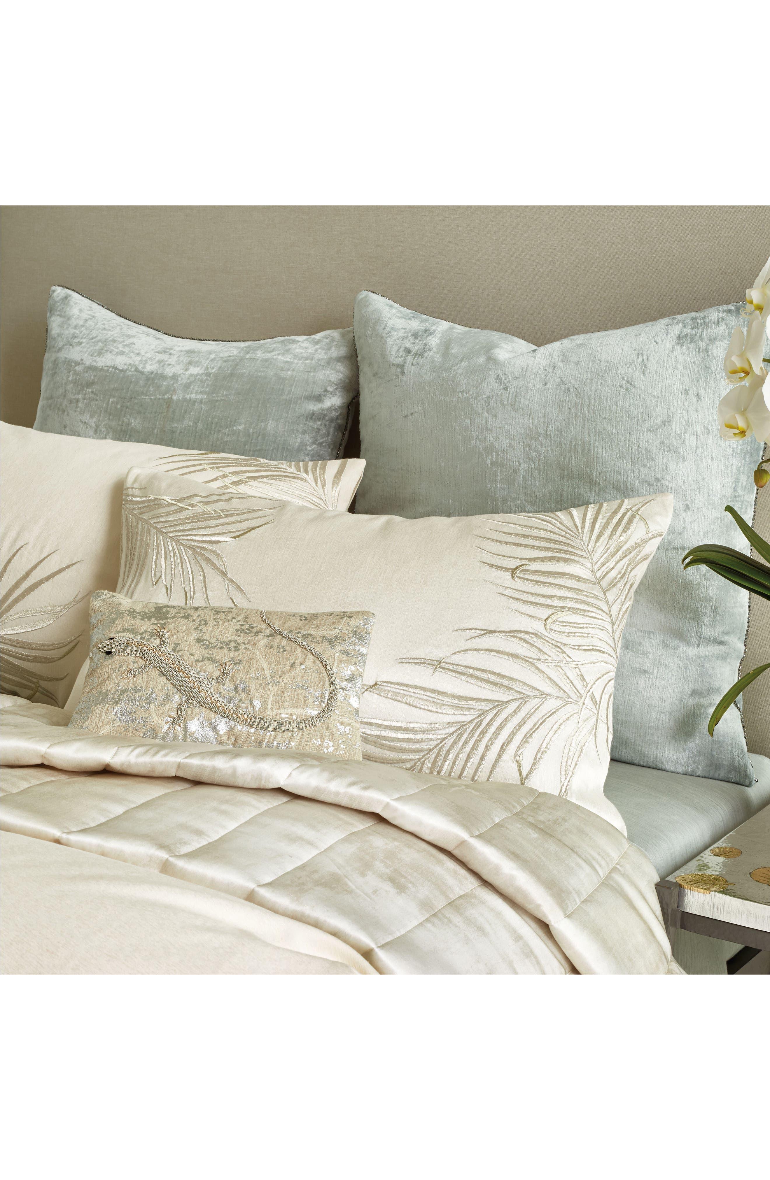 MICHAEL ARAM,                             Lizard Embroidered Decorative Pillow,                             Alternate thumbnail 3, color,                             SILVER