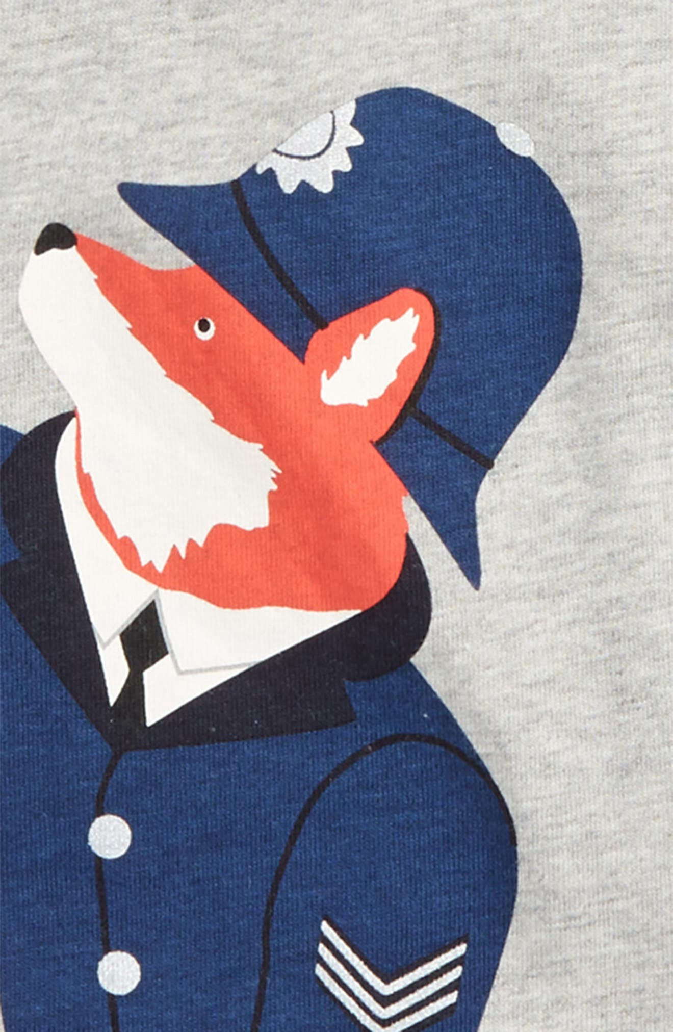 Great British Bobby Fox Graphic T-Shirt,                             Alternate thumbnail 2, color,                             062