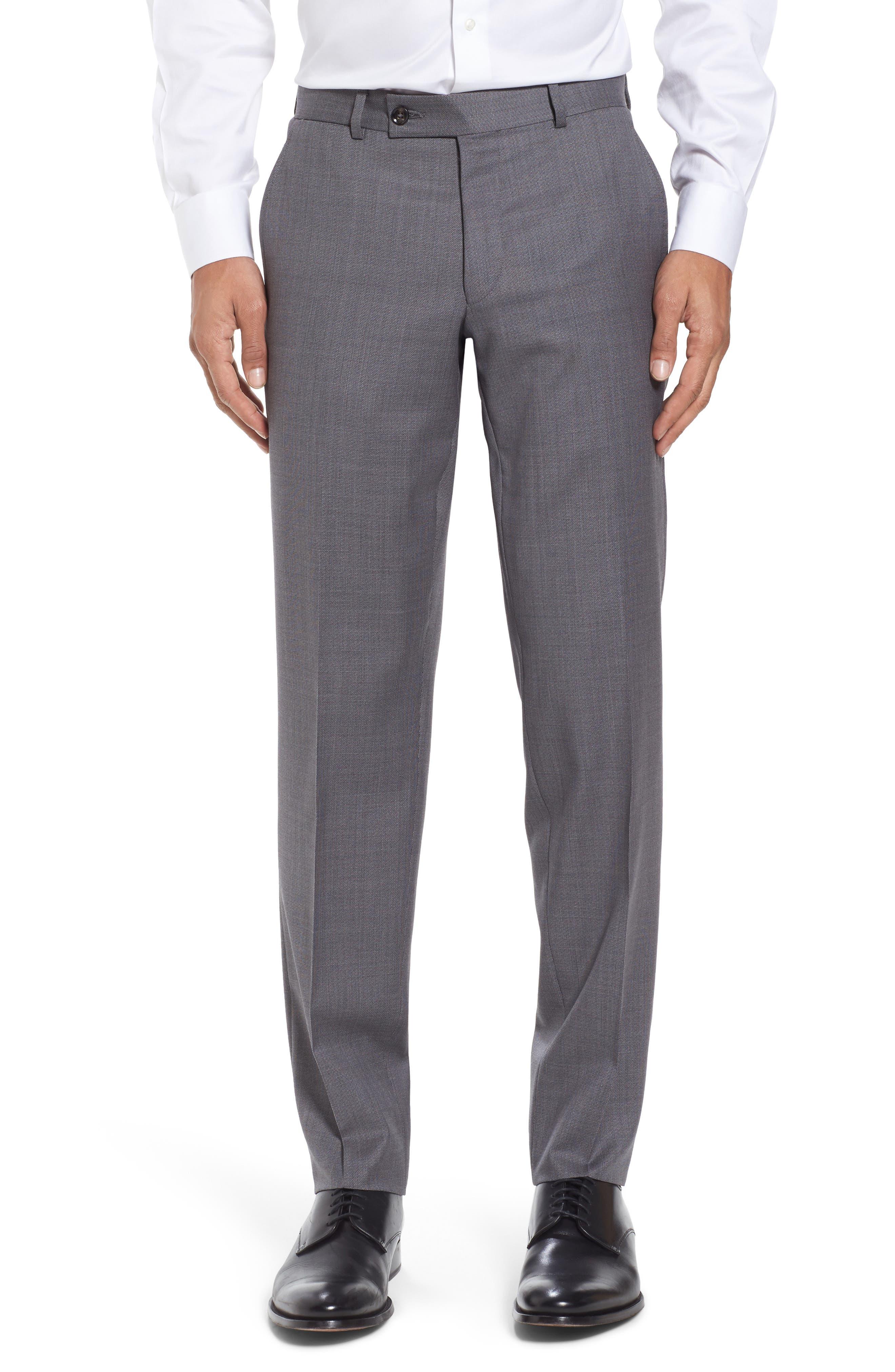 Kyle Trim Fit Solid Wool Suit,                             Alternate thumbnail 6, color,                             020