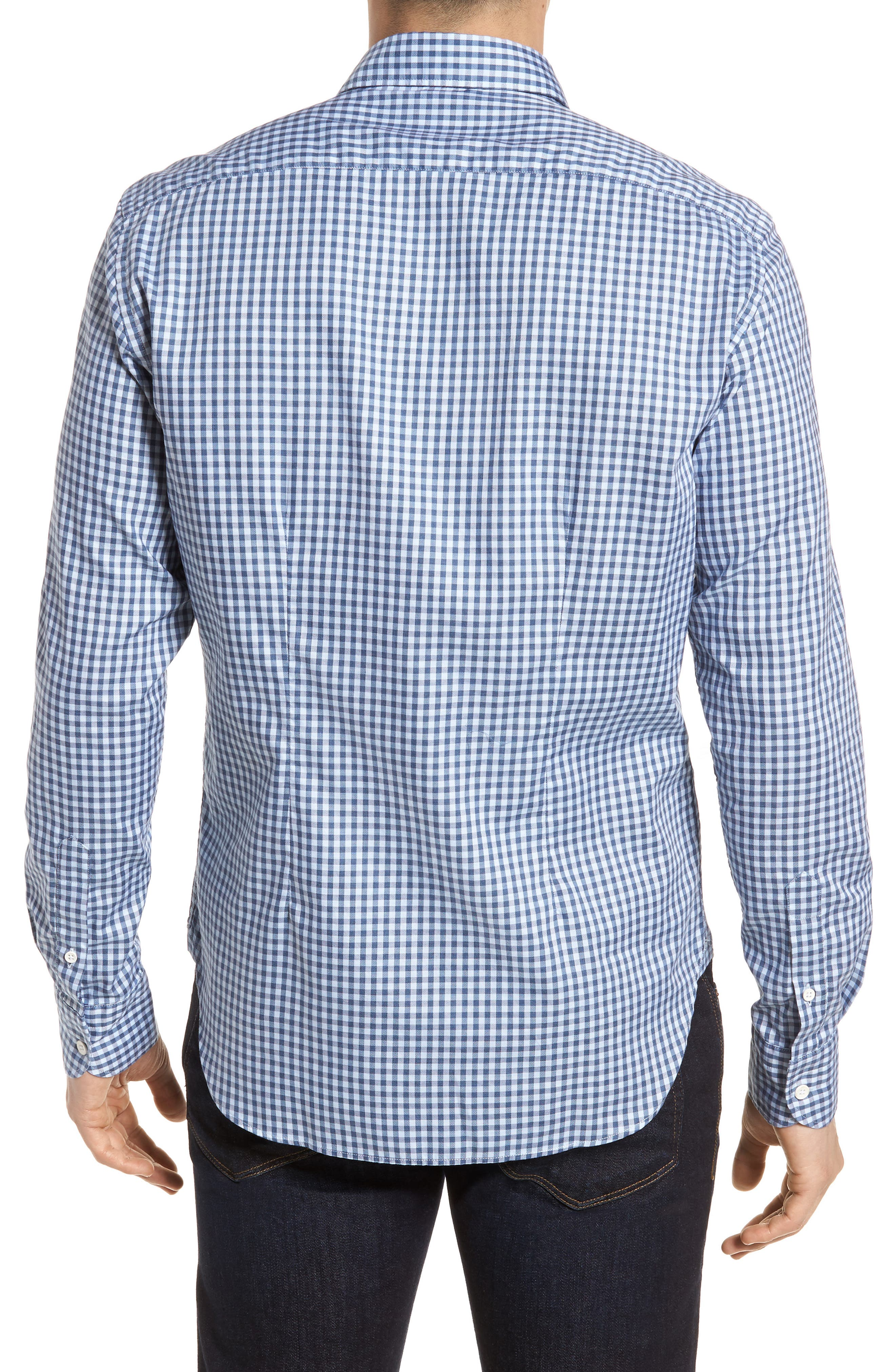 Tailored Fit Gingham Sport Shirt,                             Alternate thumbnail 2, color,                             400