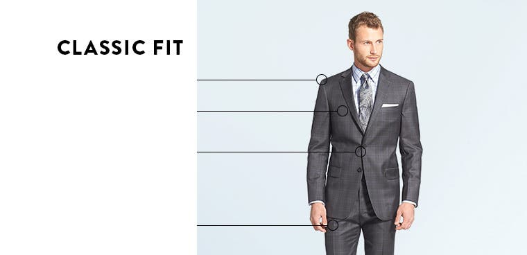 Classic-fit suits.