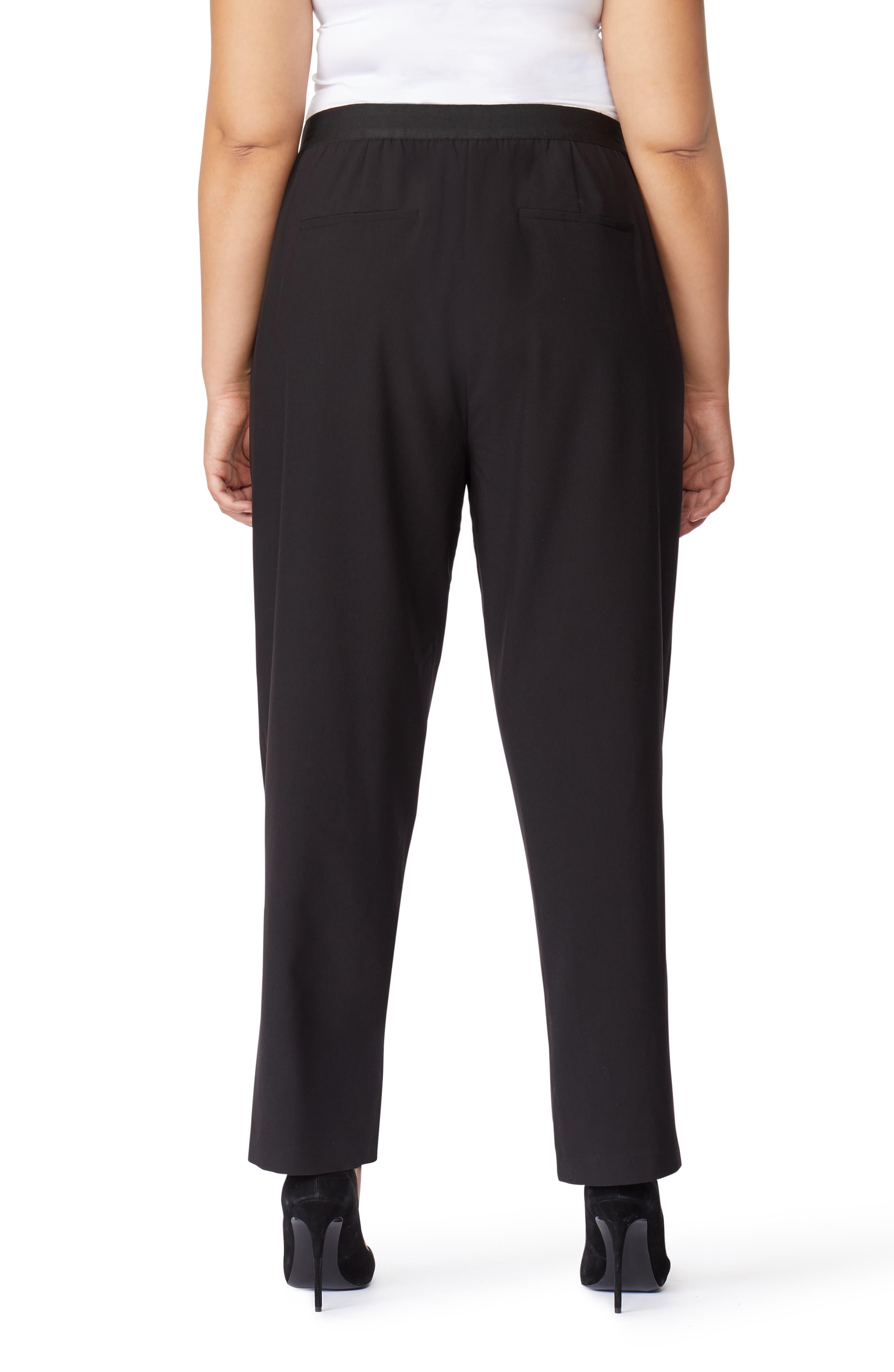 High Waist Pants,                             Alternate thumbnail 2, color,                             BLACK BEAUTY