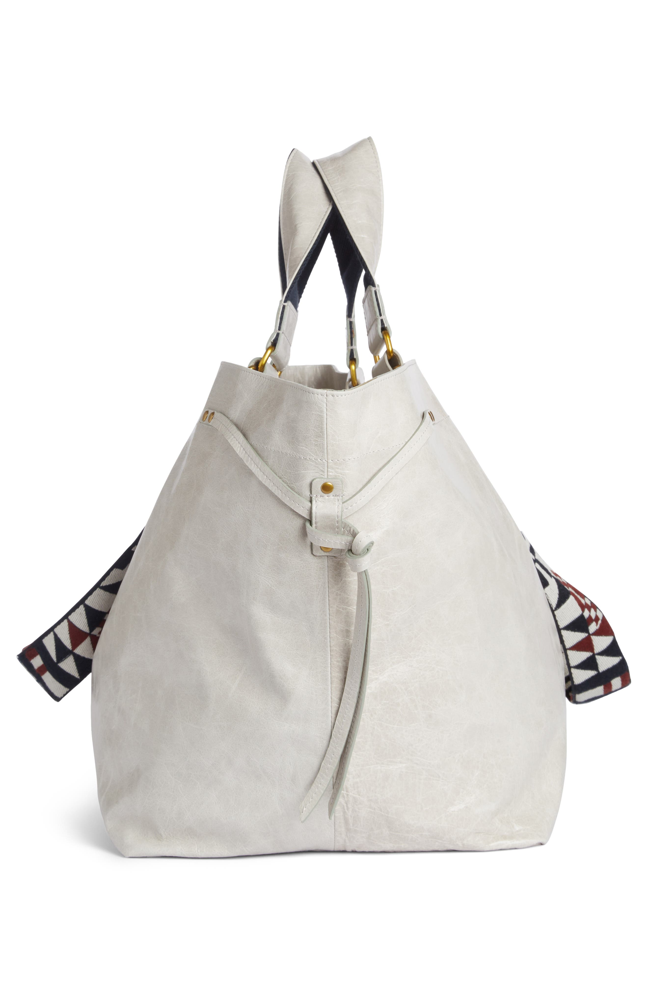 Small Bagya Leather Tote,                             Alternate thumbnail 6, color,