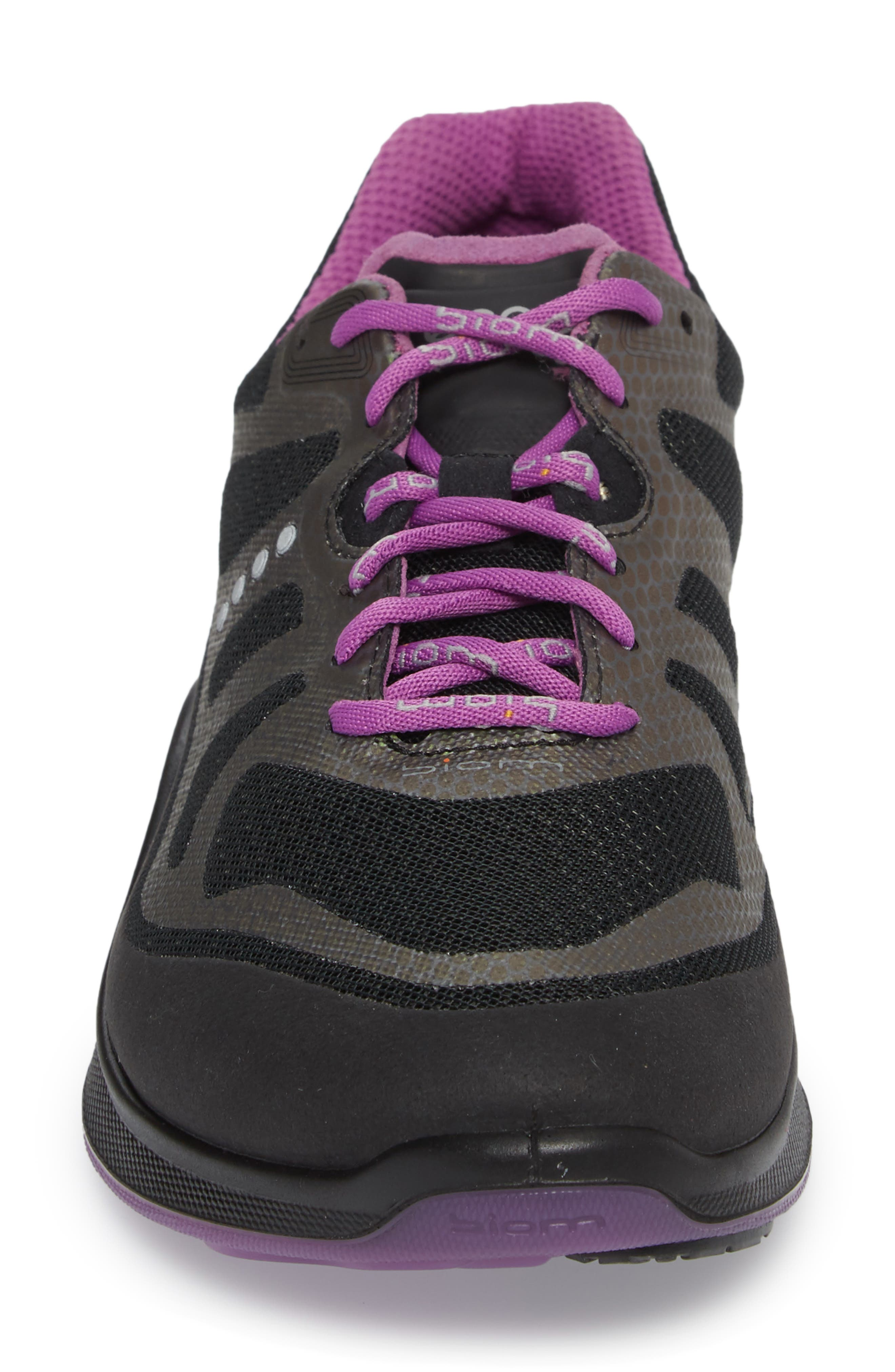 BIOM Fjuel Tie Sneaker,                             Alternate thumbnail 4, color,                             BLACK FABRIC
