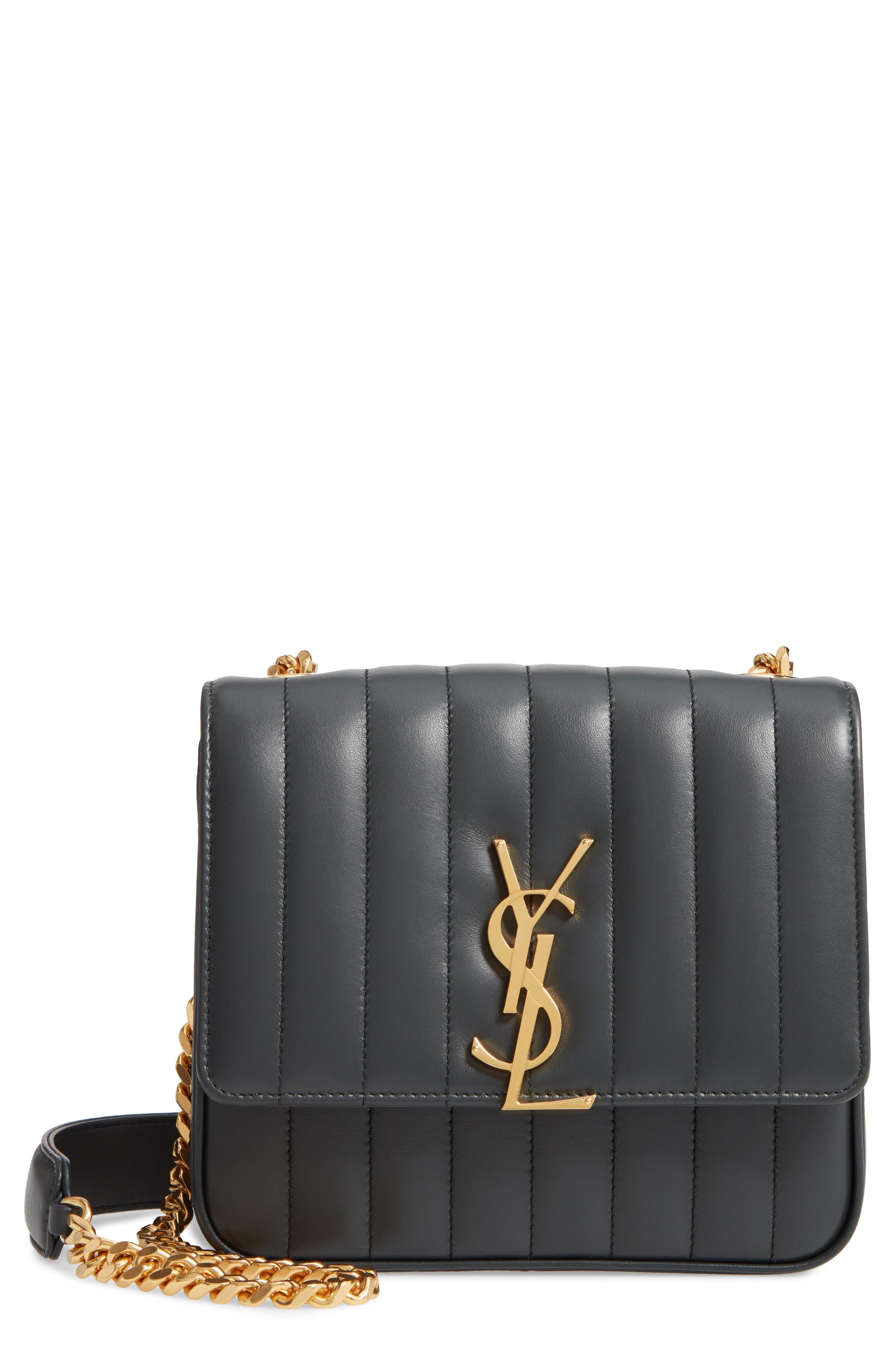 Medium Vicky Leather Crossbody Bag,                             Main thumbnail 1, color,                             ALGAE