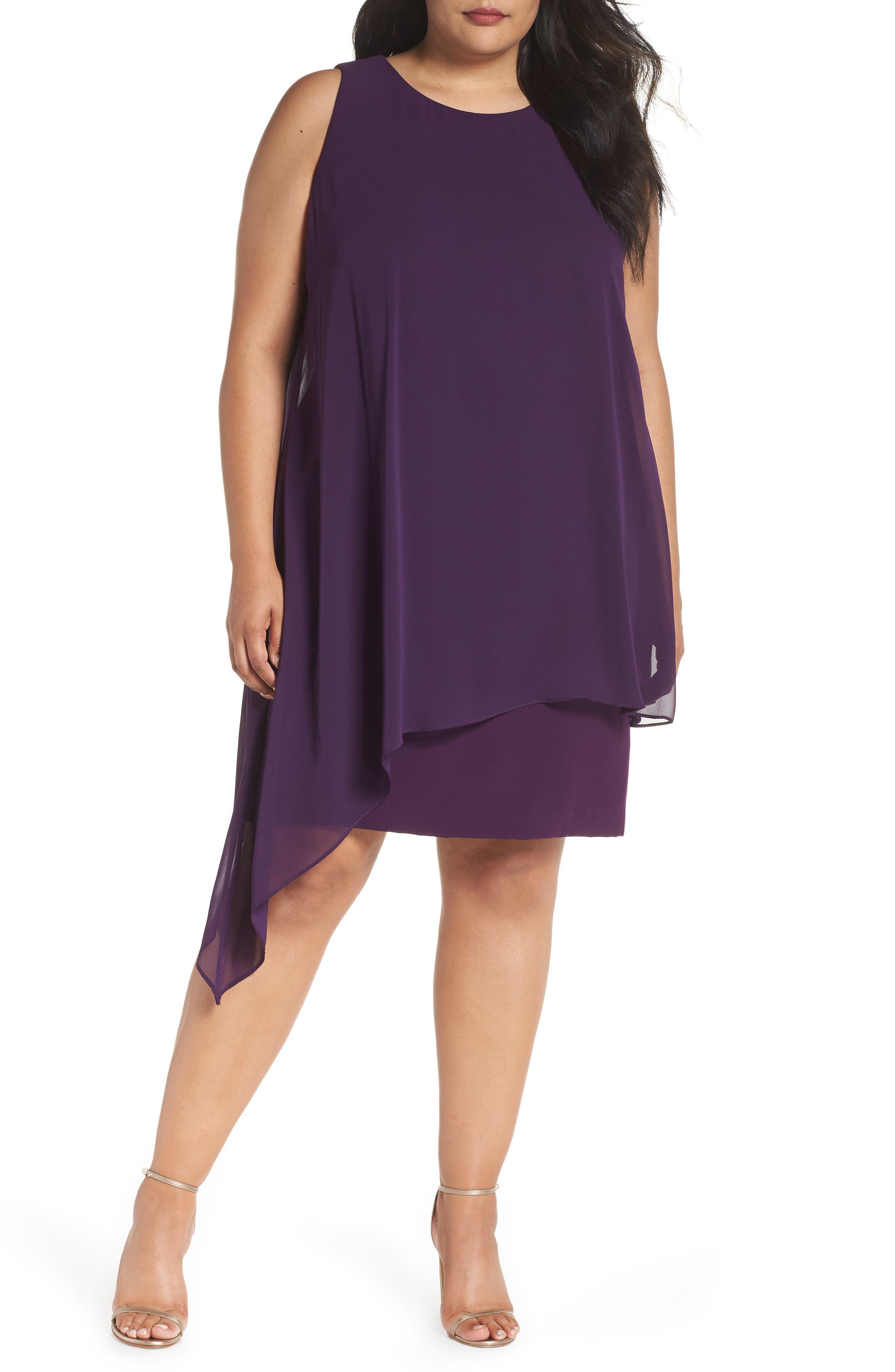 Sleeveless Overlay Crepe Sheath Dress,                         Main,                         color, 515