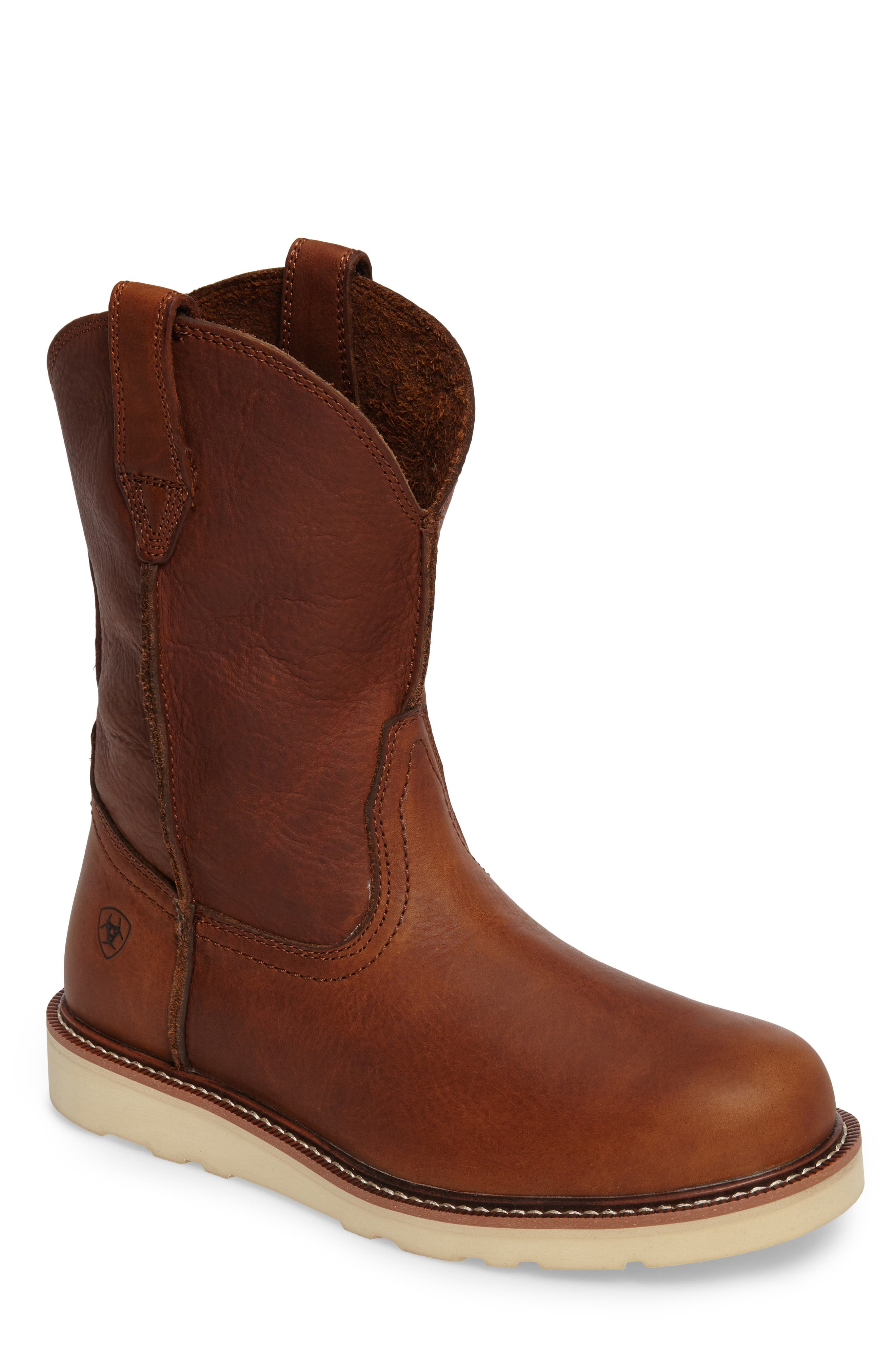 Rambler Boot,                         Main,                         color, BROWN LEATHER
