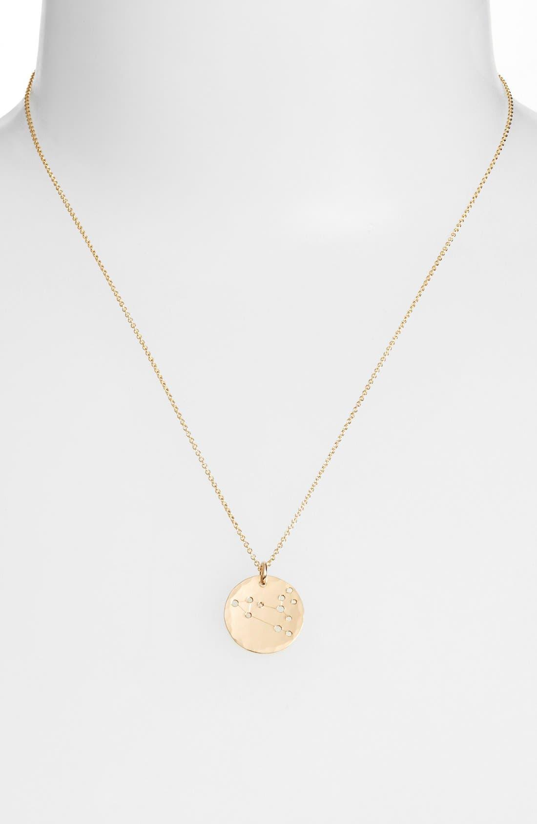 Ija 'Small Zodiac' 14k-Gold Fill Necklace,                             Alternate thumbnail 29, color,
