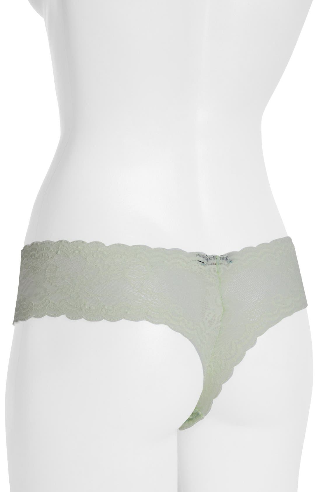 'Trenta' Low Rise Lace Thong,                             Alternate thumbnail 50, color,