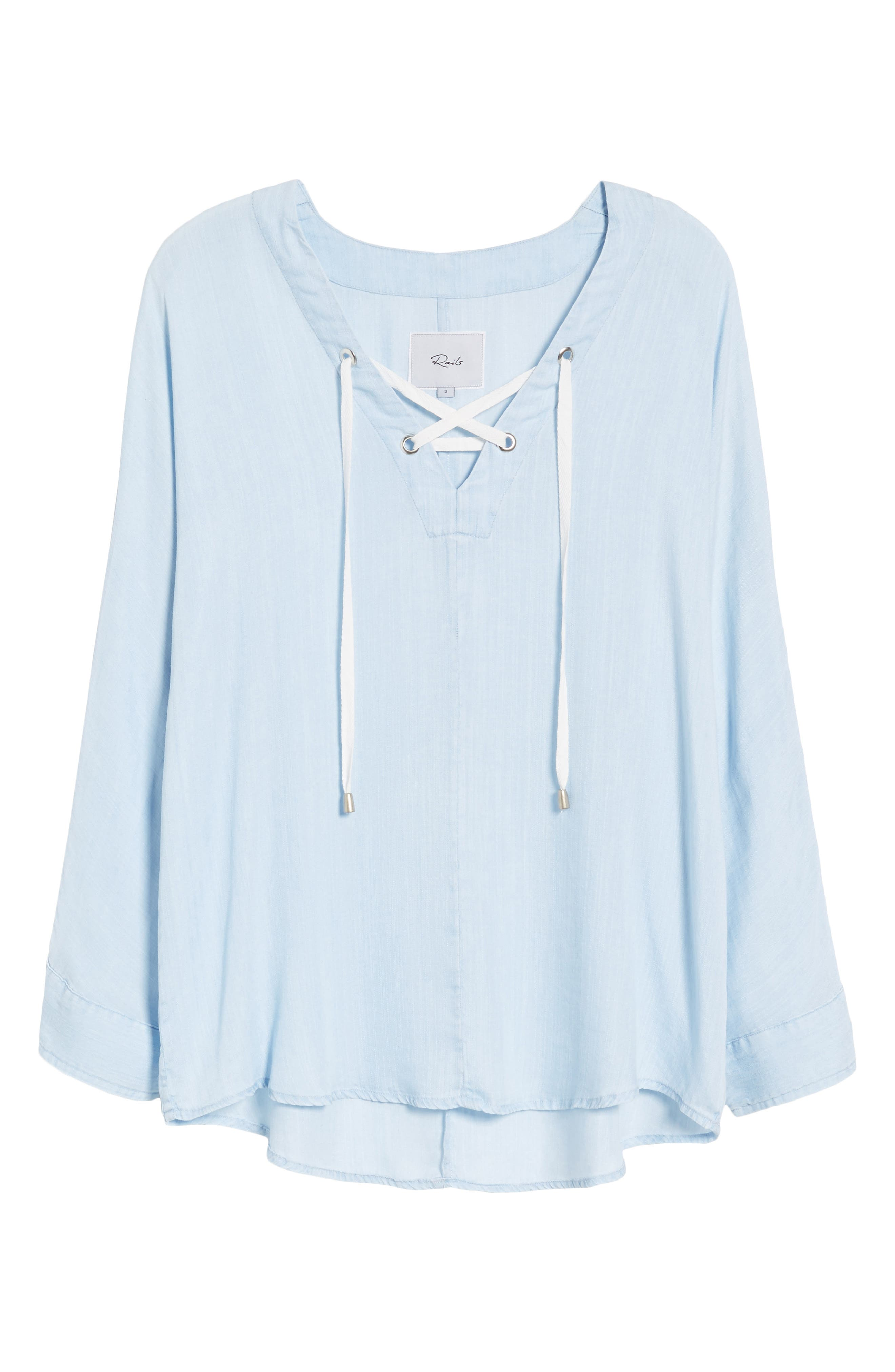 Lily Lace-Up Top,                             Alternate thumbnail 7, color,                             421