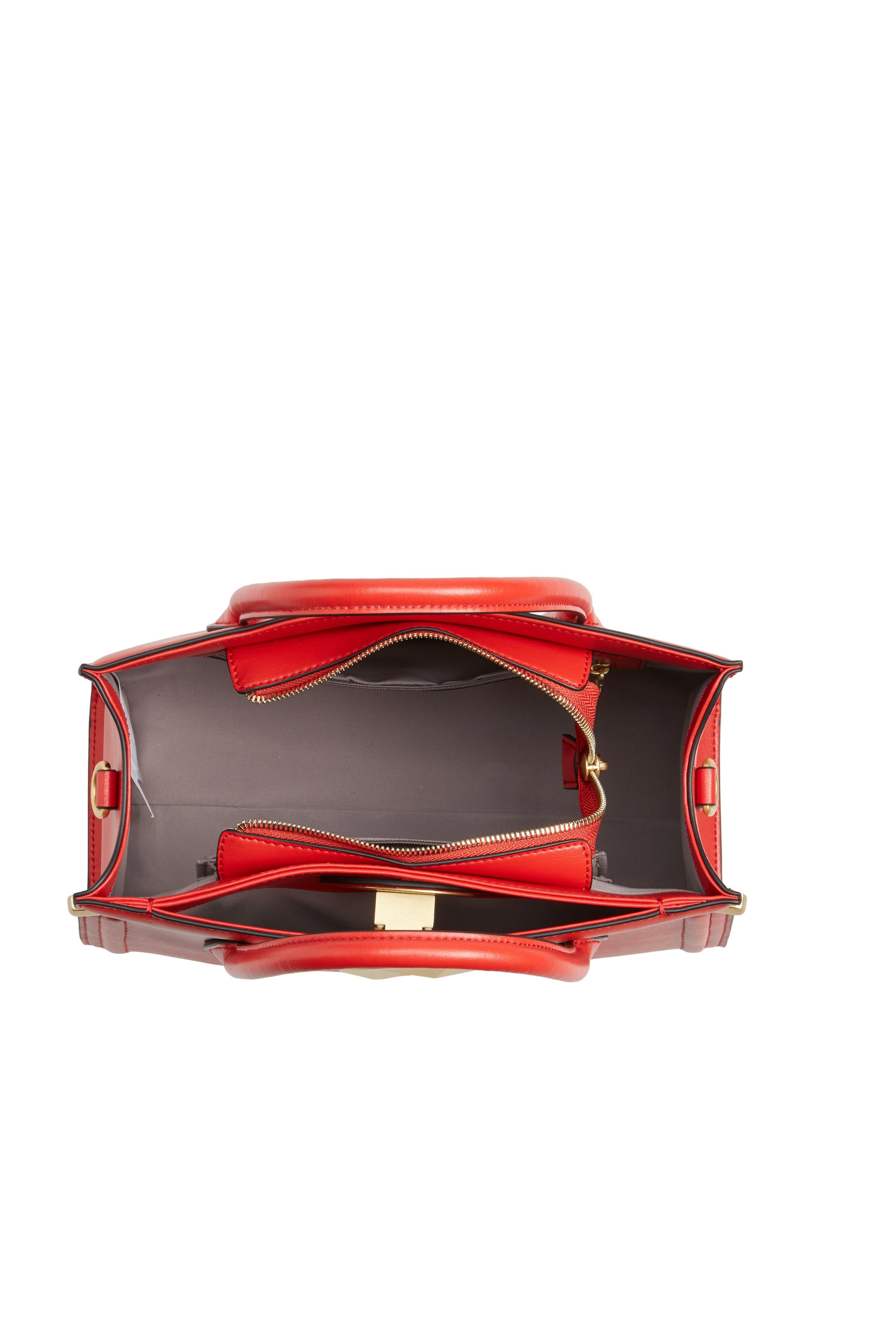 Céline Dion Octave Leather Satchel,                             Alternate thumbnail 4, color,                             600