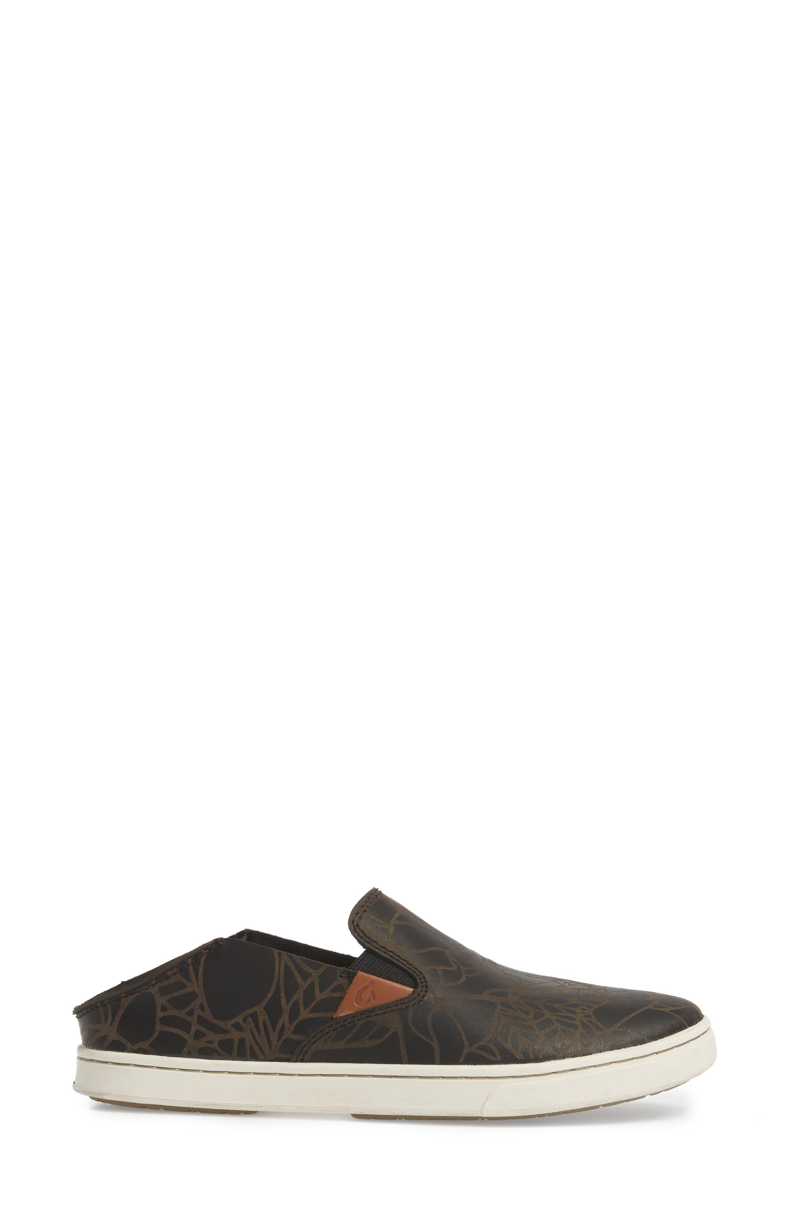 Pehuea Lau Slip-On Sneaker,                             Alternate thumbnail 4, color,                             BLACK/ BLACK FABRIC