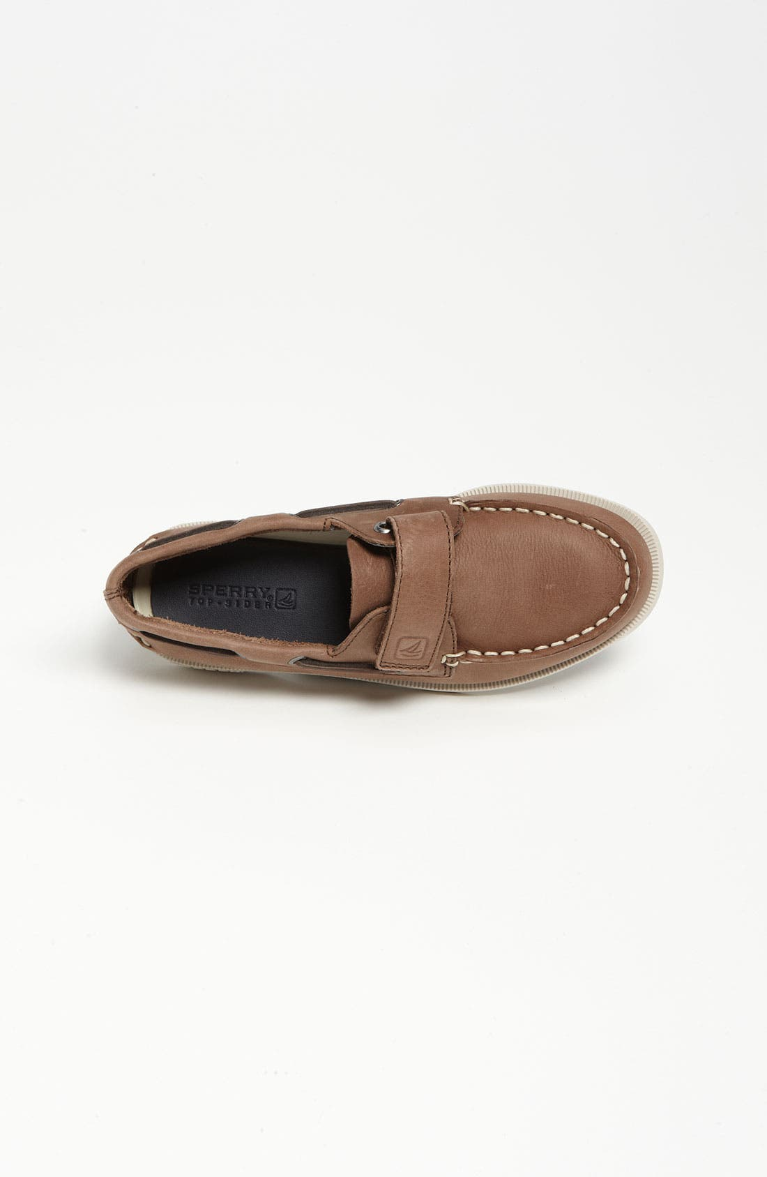 Sperry Top-Sider<sup>®</sup> Kids 'Authentic Original' Boat Shoe,                             Alternate thumbnail 4, color,                             BROWN