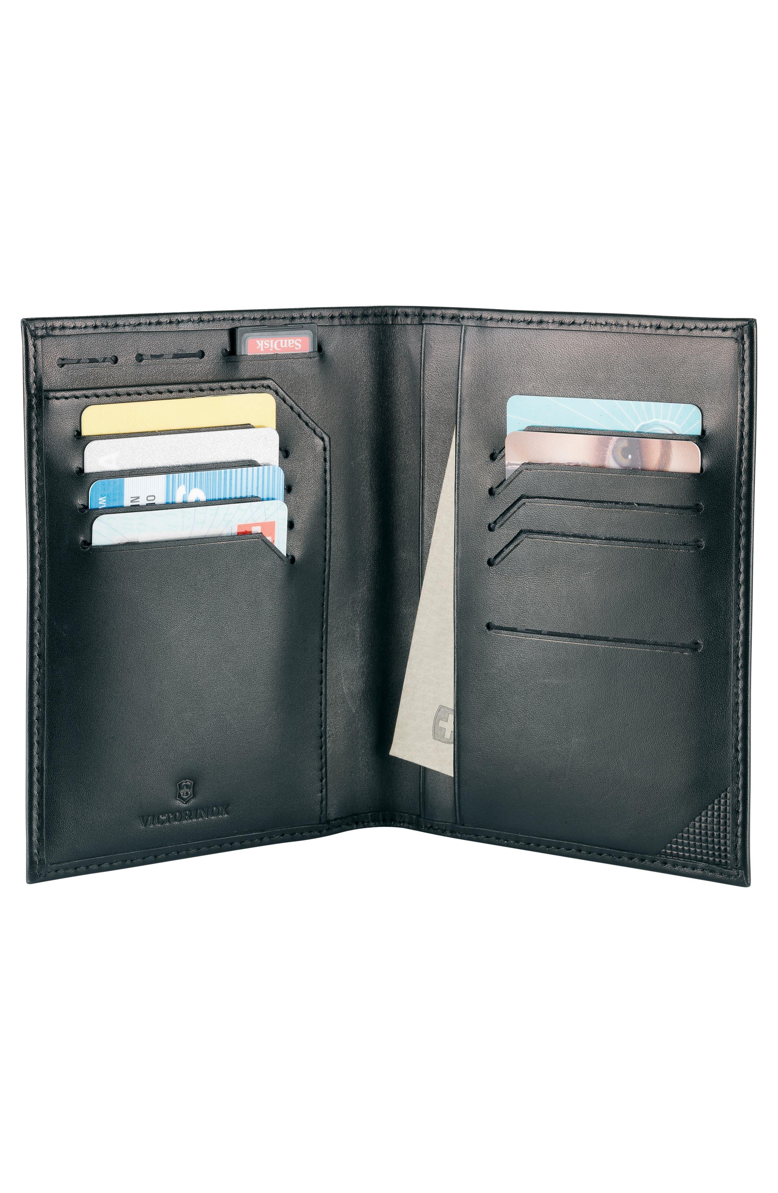 Altius Edge Leibnitz Travel Wallet,                             Alternate thumbnail 4, color,                             BLACK