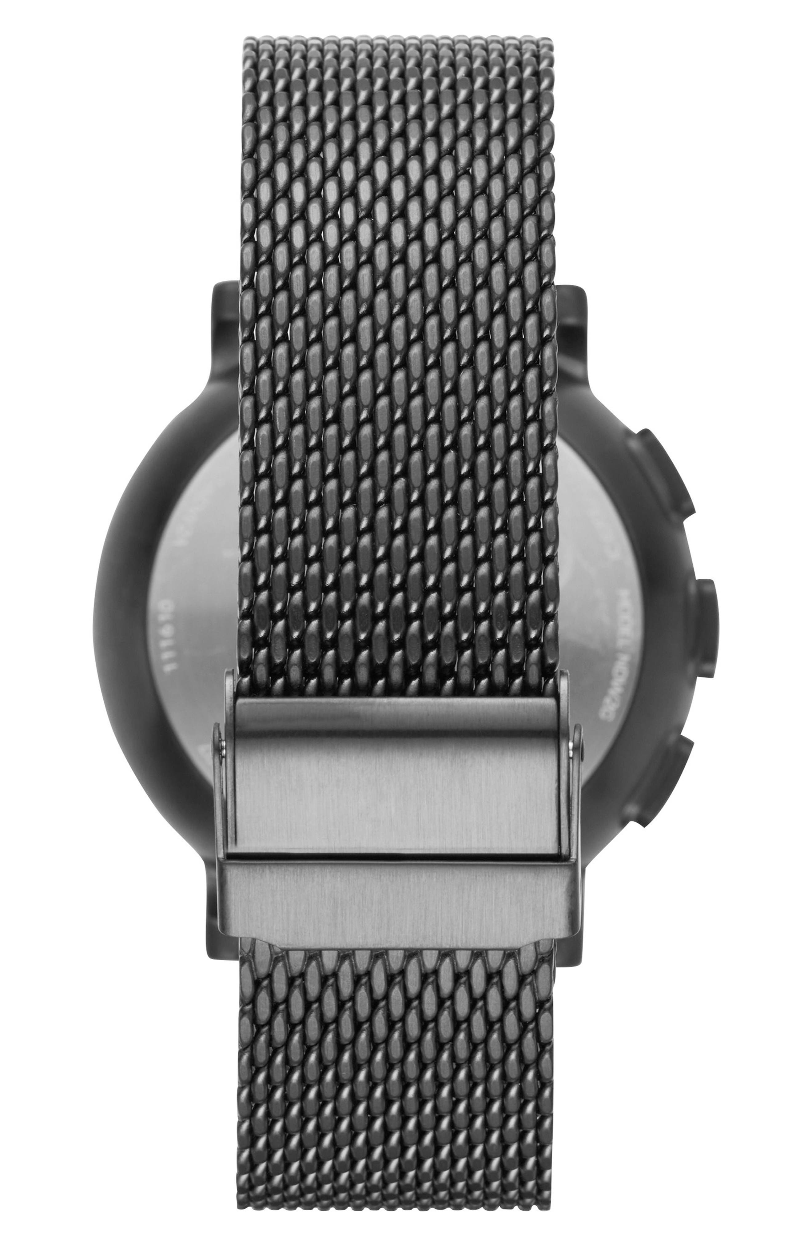Hagen Connected Mesh Strap Hybrid Smart Watch, 42mm,                             Alternate thumbnail 2, color,                             001