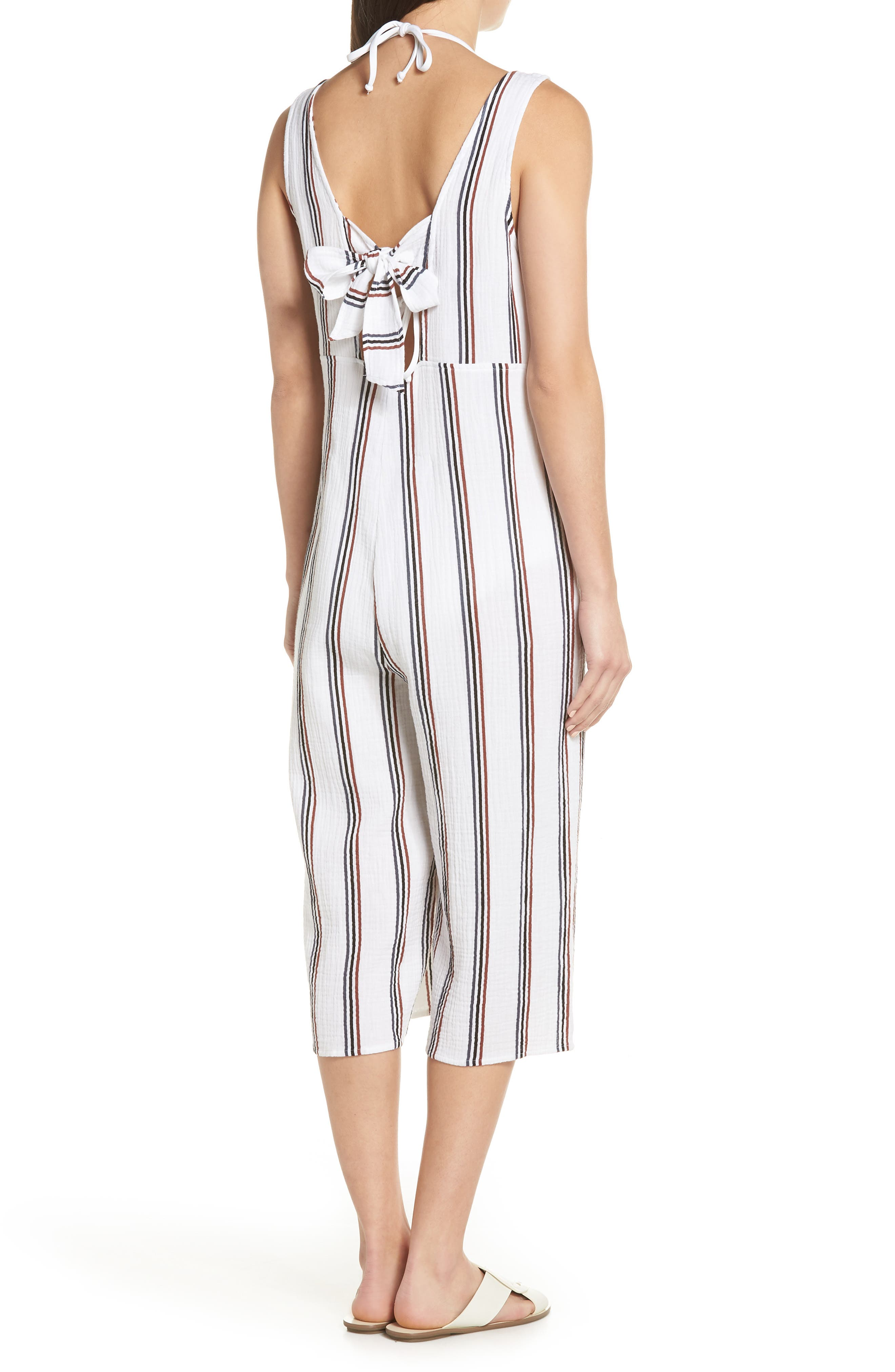 Ramona Cover-Up Jumpsuit,                             Alternate thumbnail 2, color,                             WHITE STRIPE