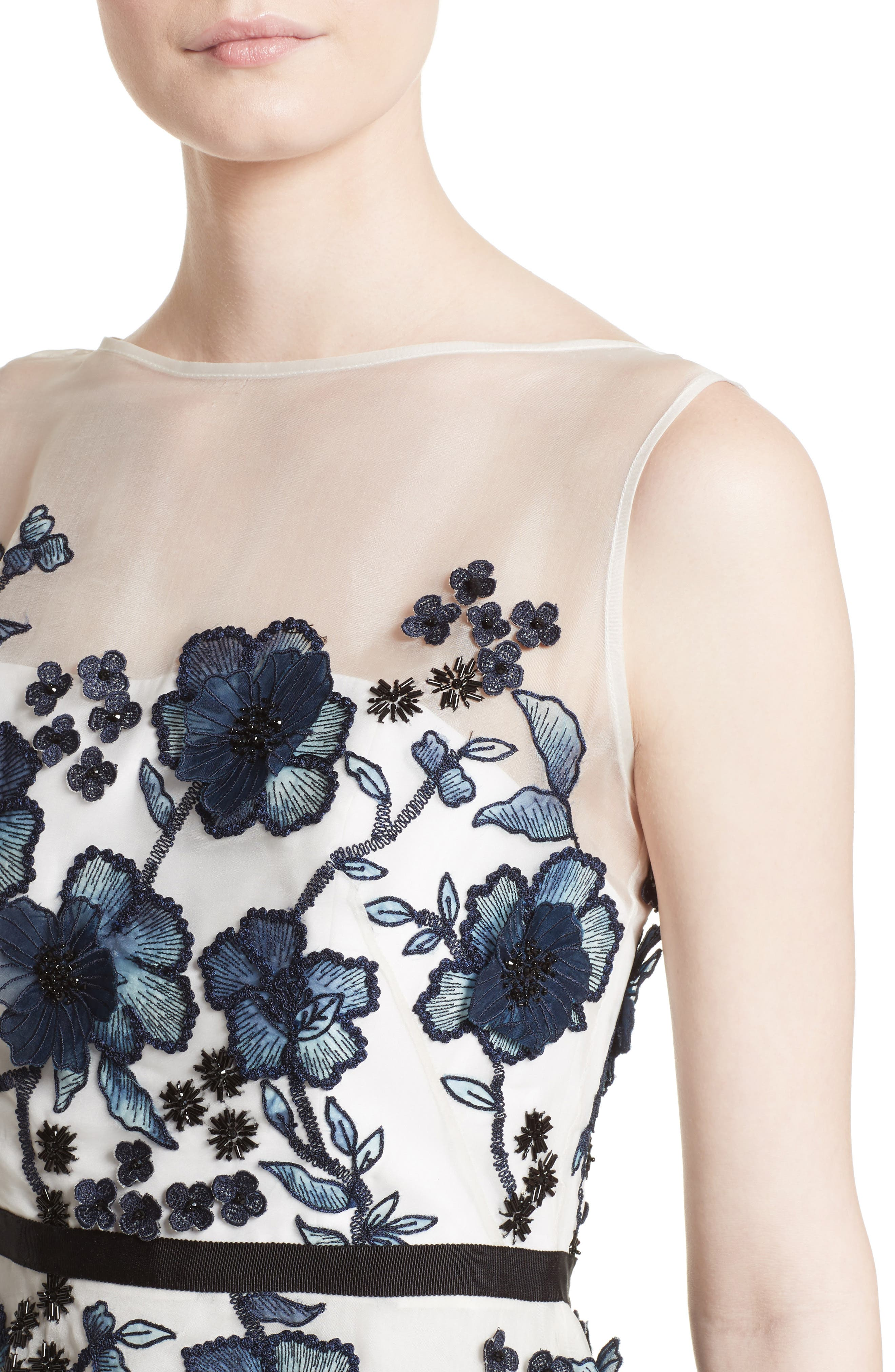 Floral Embroidered Dress,                             Alternate thumbnail 4, color,                             413