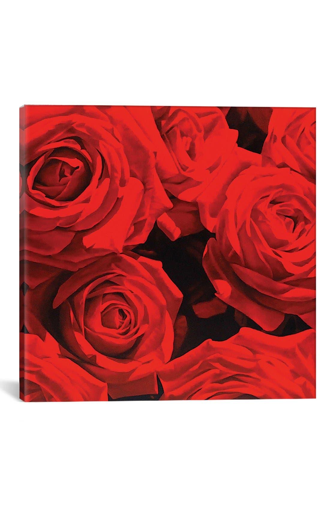 'Red Roses' Giclée Print Canvas Art,                         Main,                         color, 600
