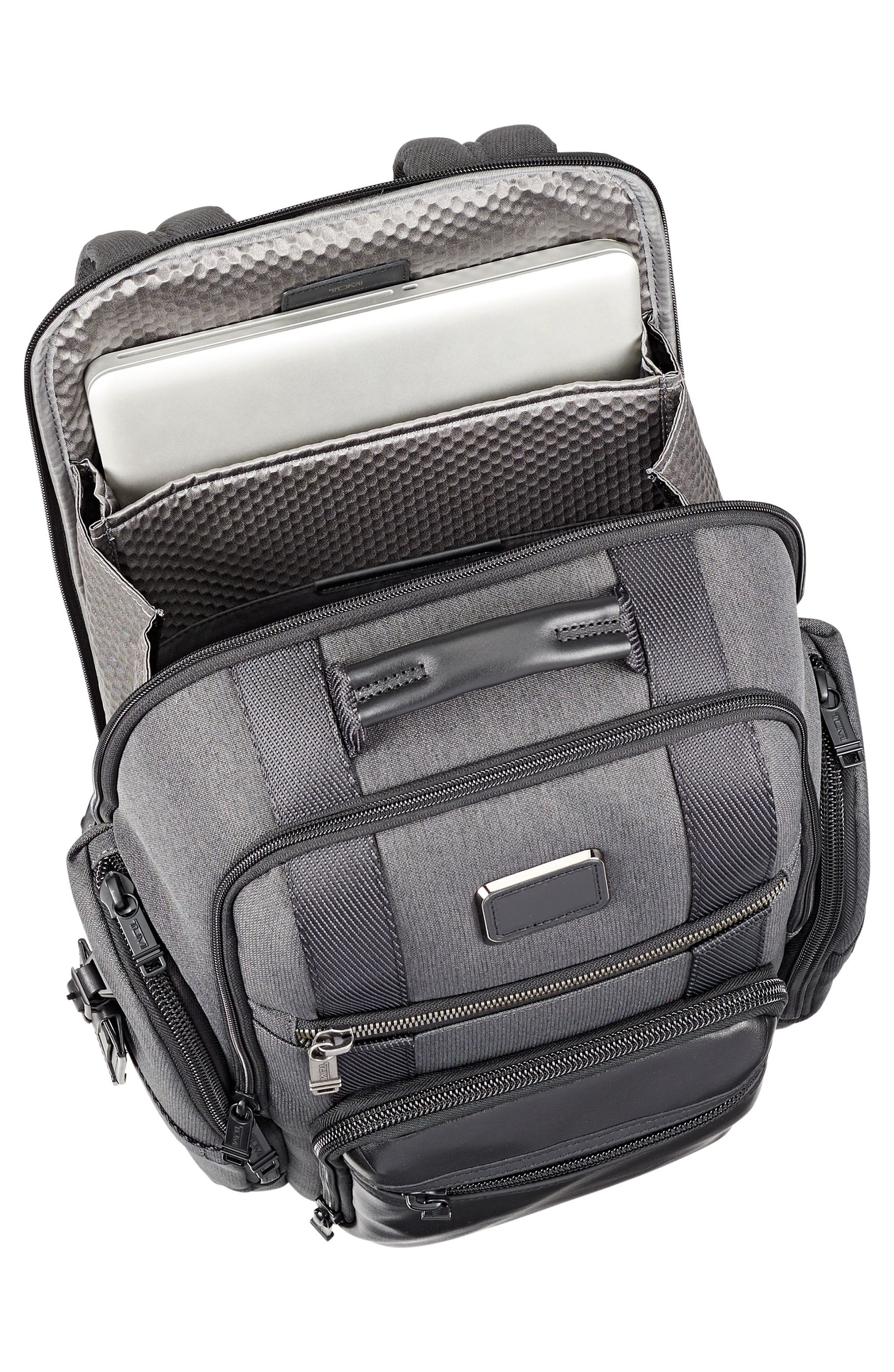 Alpha Bravo - Sheppard Deluxe Backpack,                             Alternate thumbnail 3, color,                             ANTHRACITE