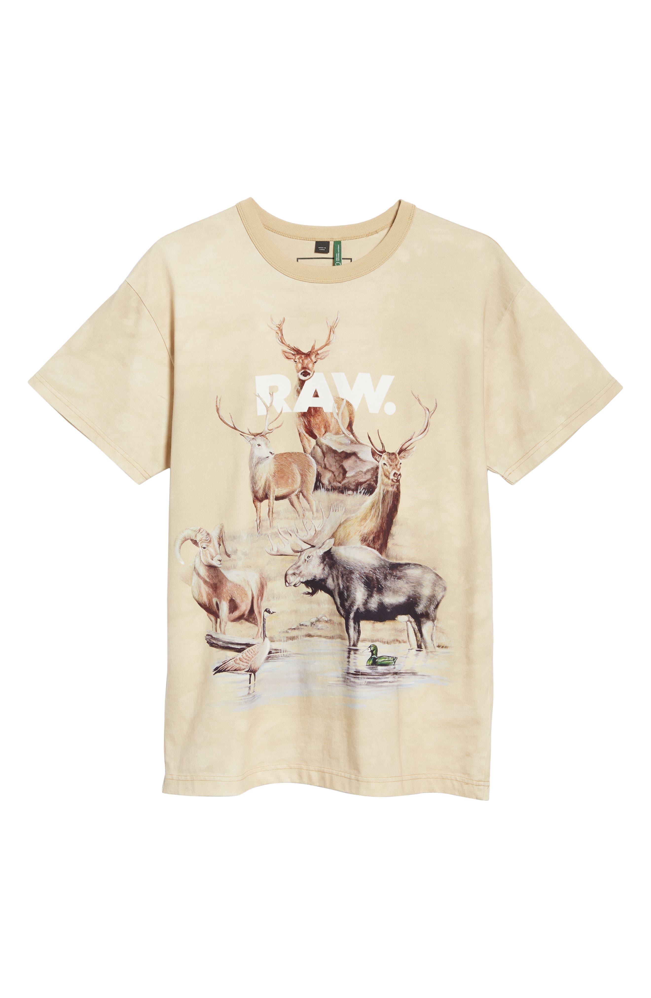G-Star Cyrer Animal Loose T-Shirt,                             Alternate thumbnail 6, color,                             SAND