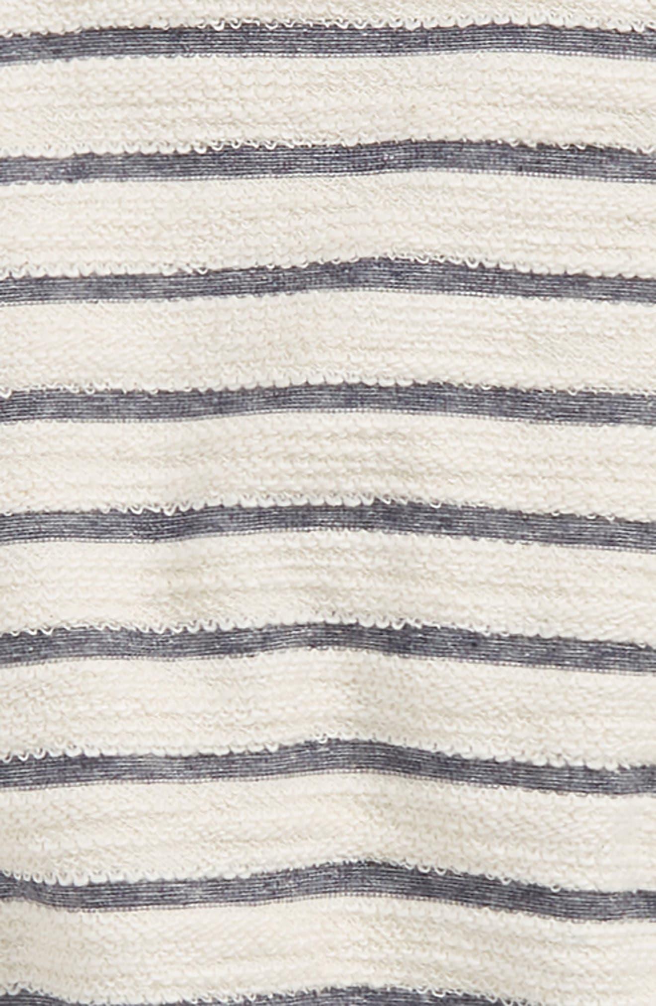 Sleep In Stripe Sweatshirt,                             Alternate thumbnail 2, color,                             100