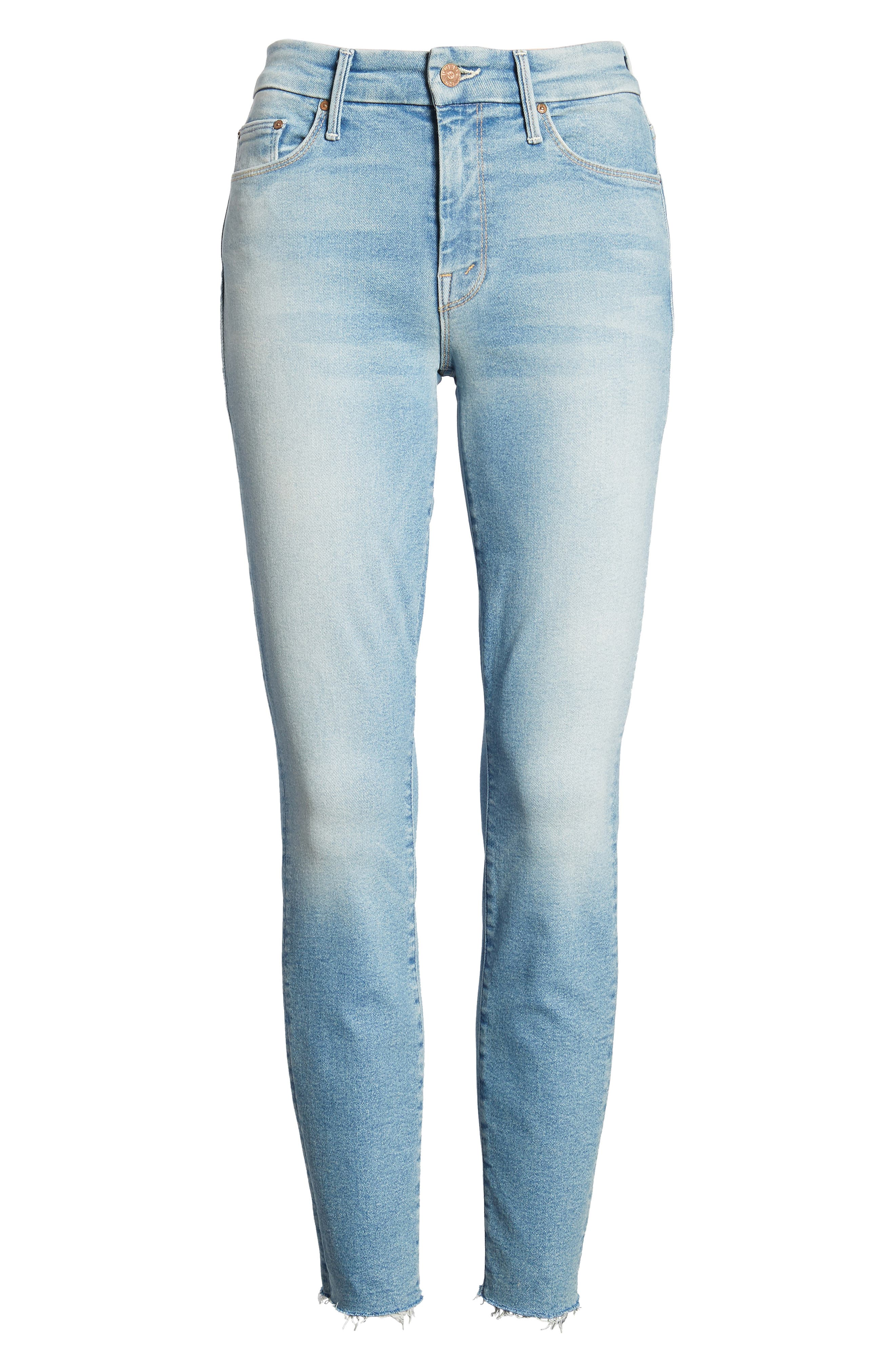 The Looker Fray Ankle Skinny Jeans,                             Alternate thumbnail 7, color,                             400