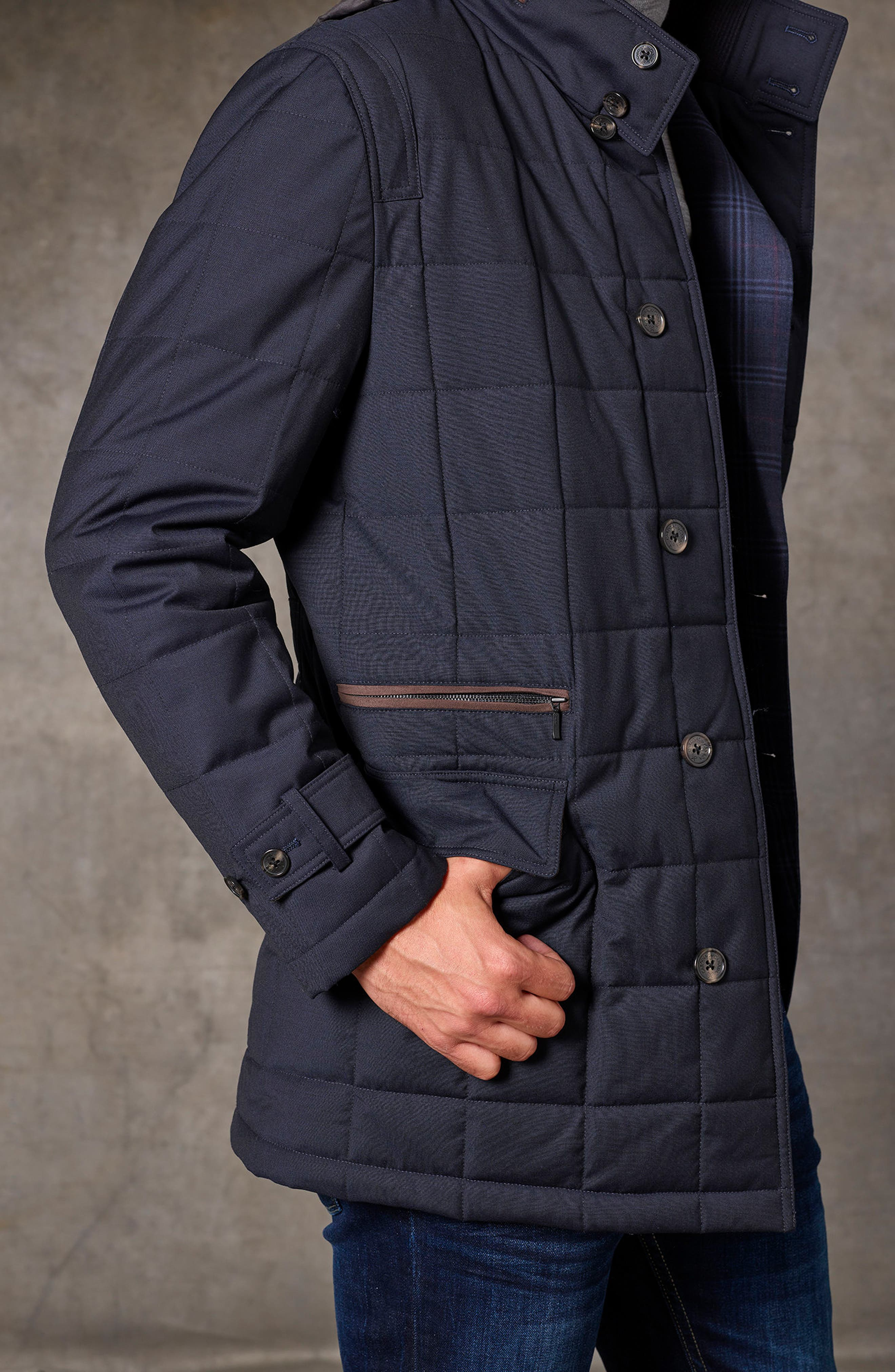 Quilted Wool Parka,                             Alternate thumbnail 6, color,                             410