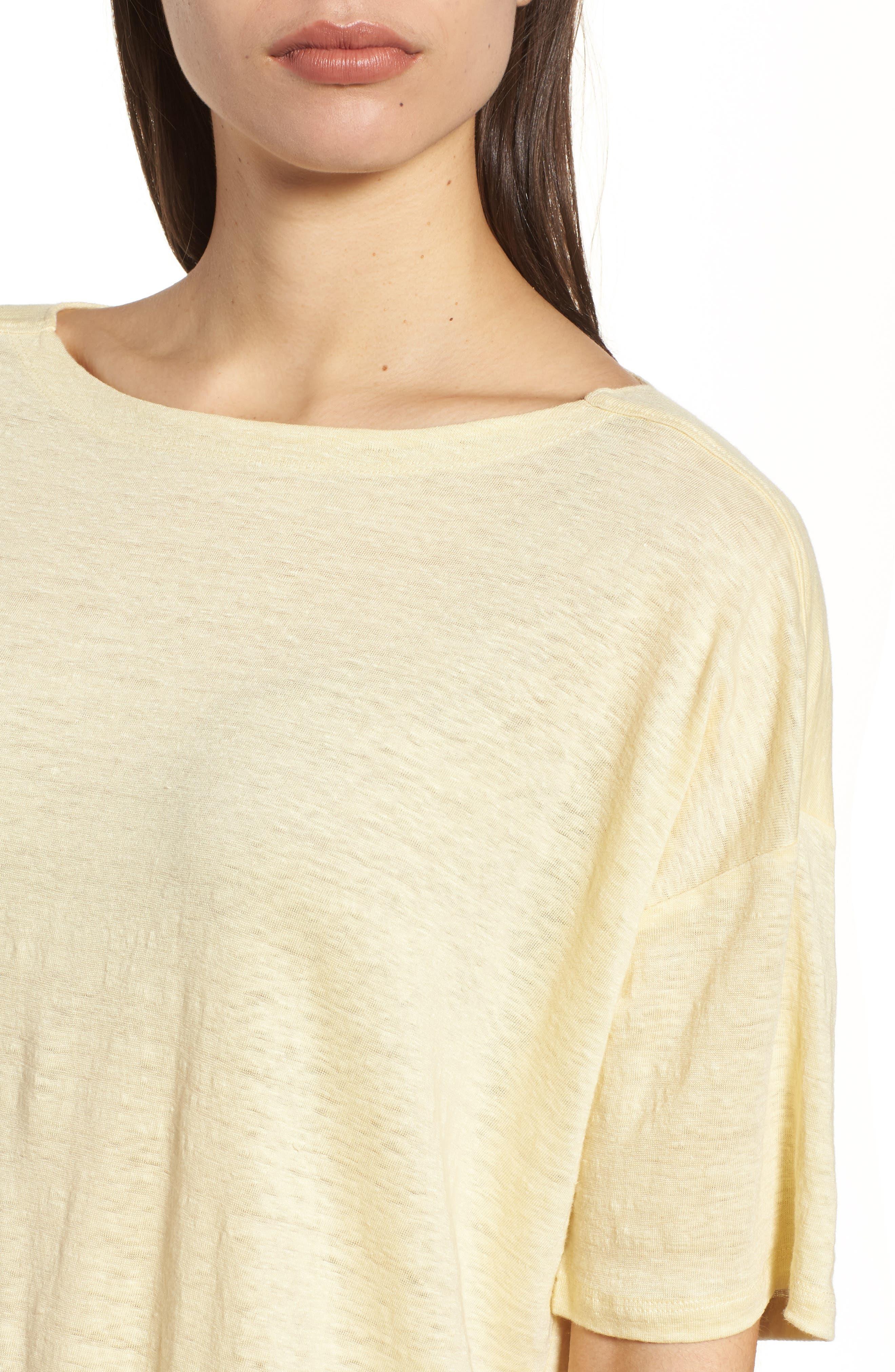 Slouchy Organic Linen Top,                             Alternate thumbnail 21, color,