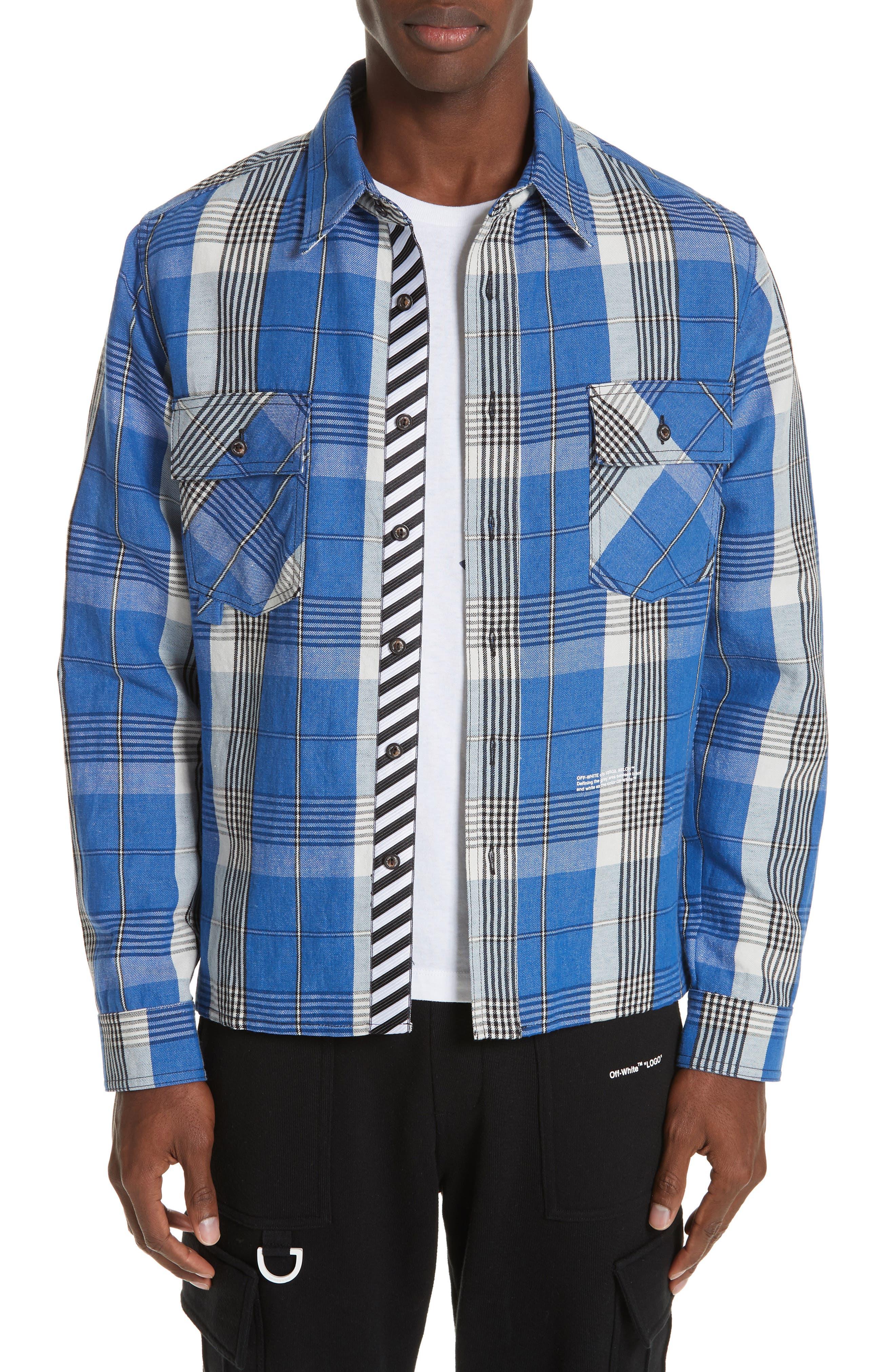 Check Shirt,                             Main thumbnail 1, color,                             BLUE
