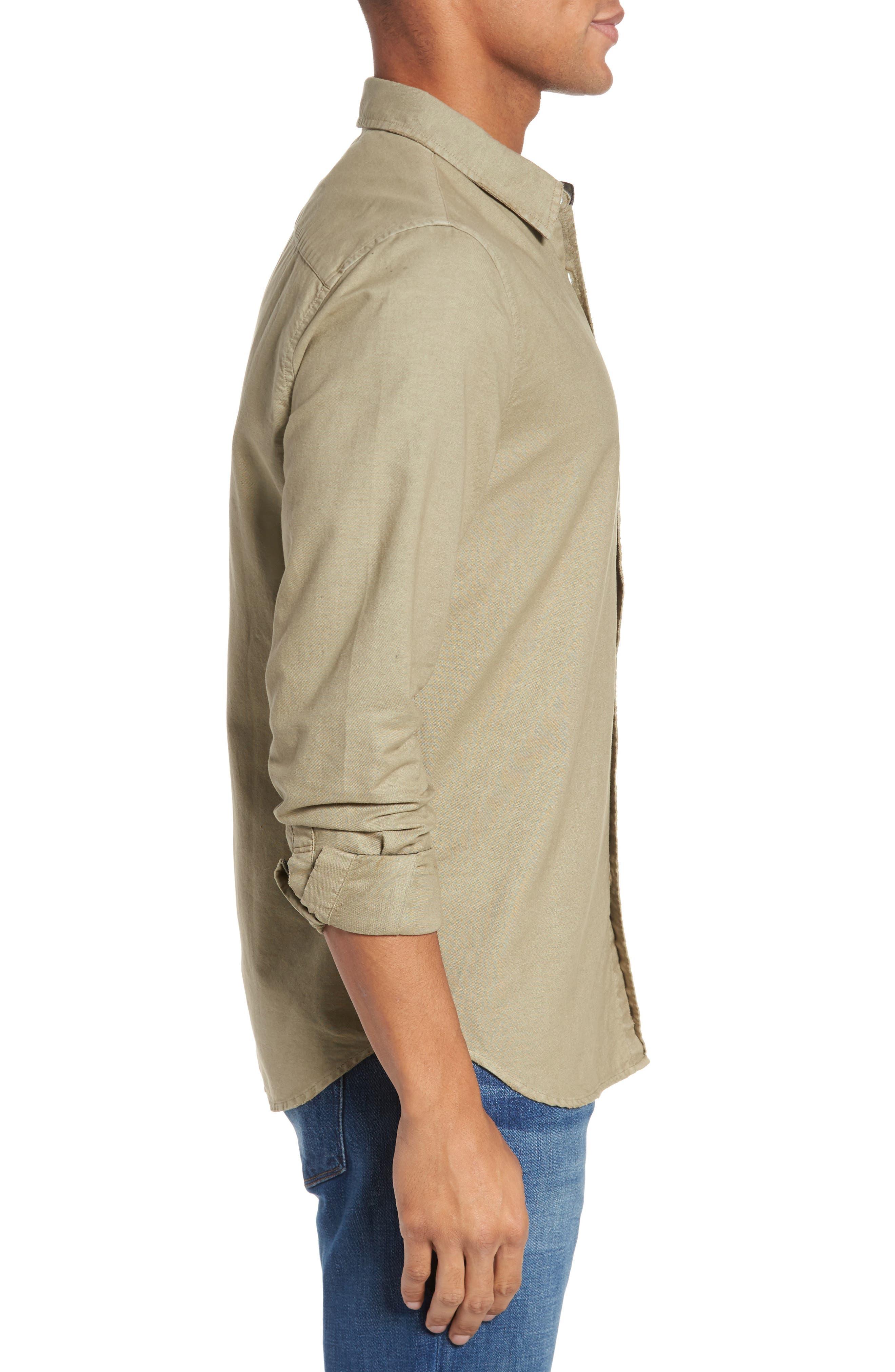 Caleb Slim Fit Twill Sport Shirt,                             Alternate thumbnail 5, color,