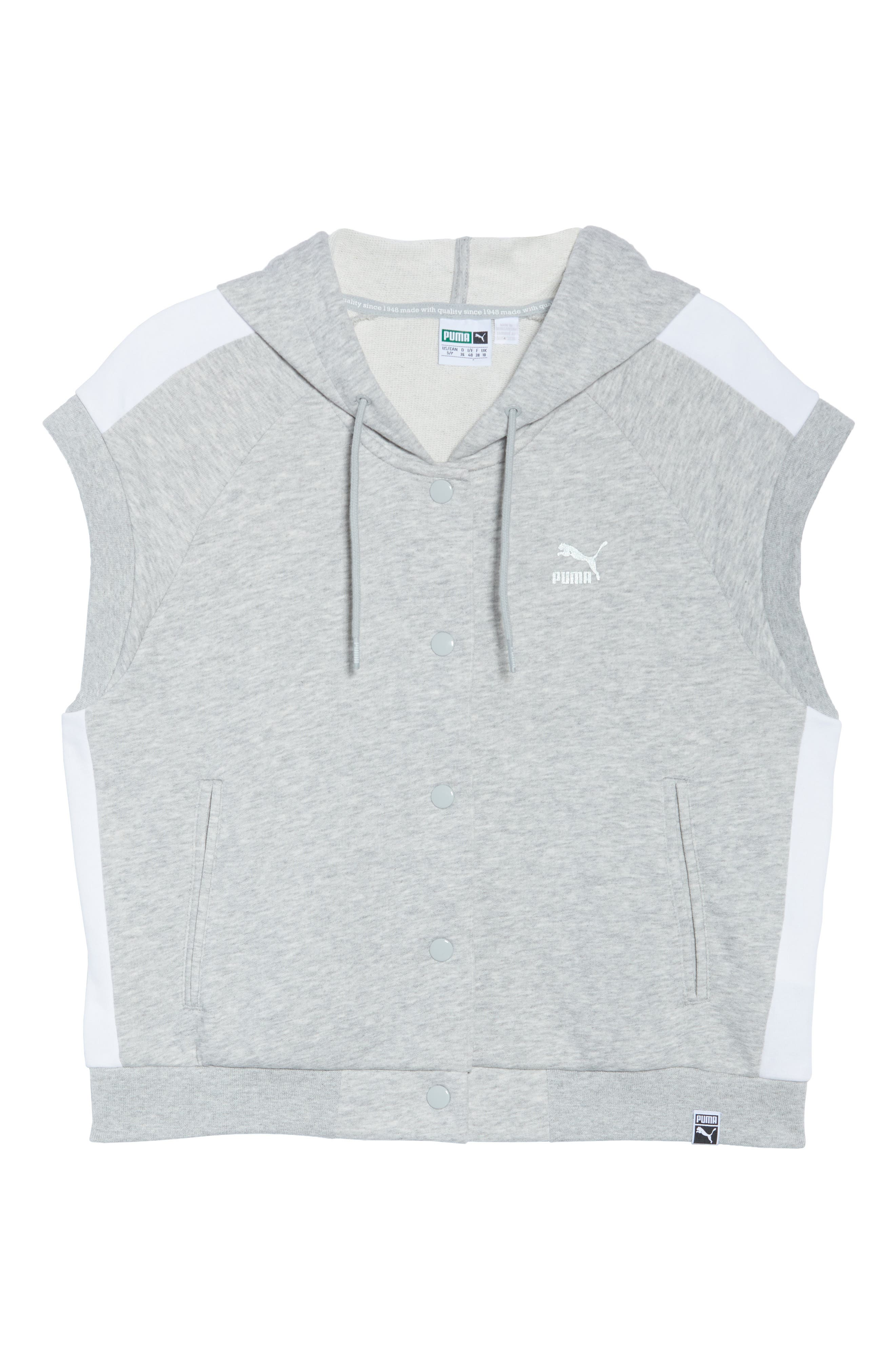 Classics T7 Logo Sleeveless Hoodie,                             Alternate thumbnail 7, color,                             028