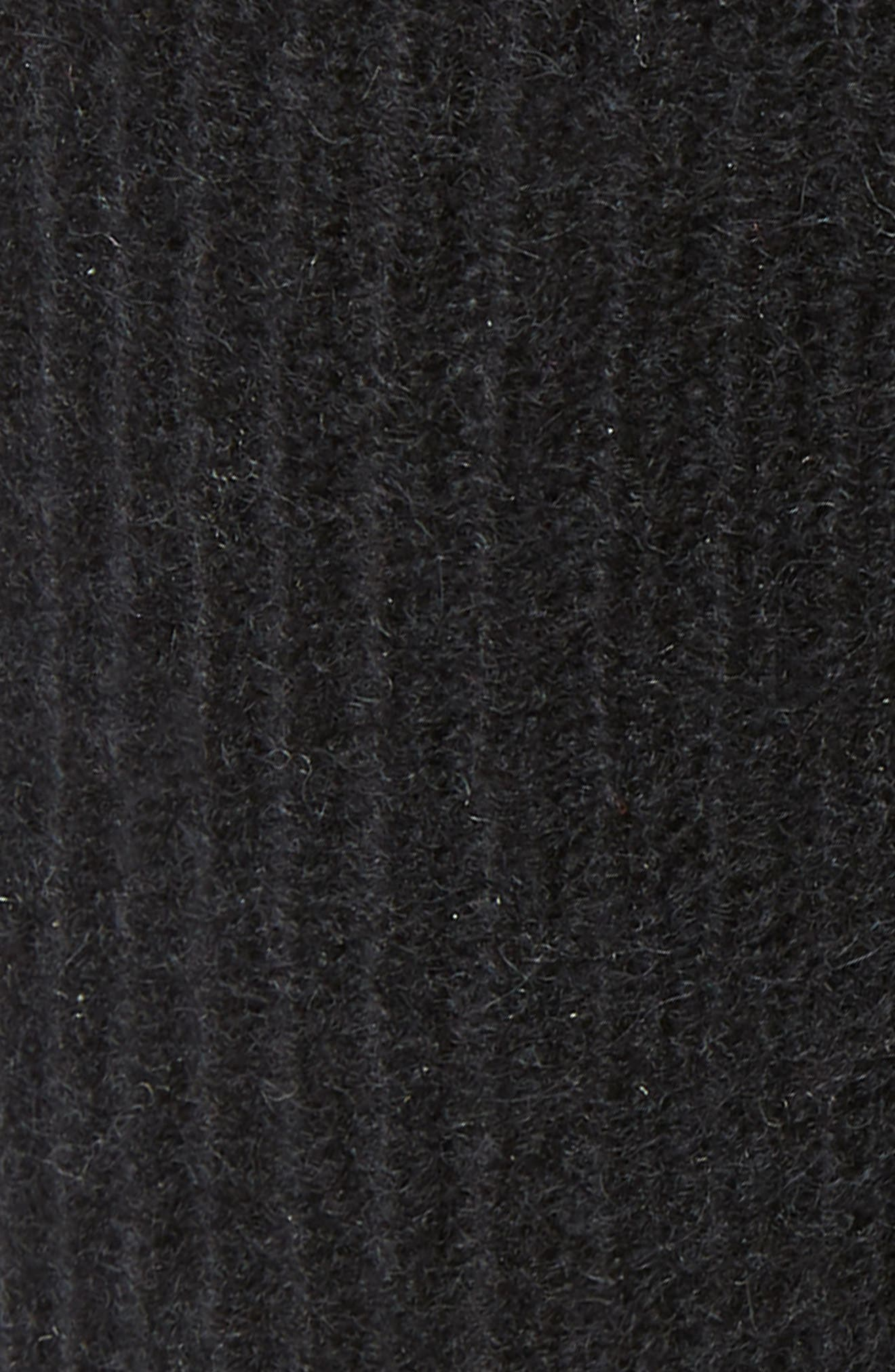 Ribbed Cashmere Head Wrap,                             Alternate thumbnail 2, color,                             BLACK
