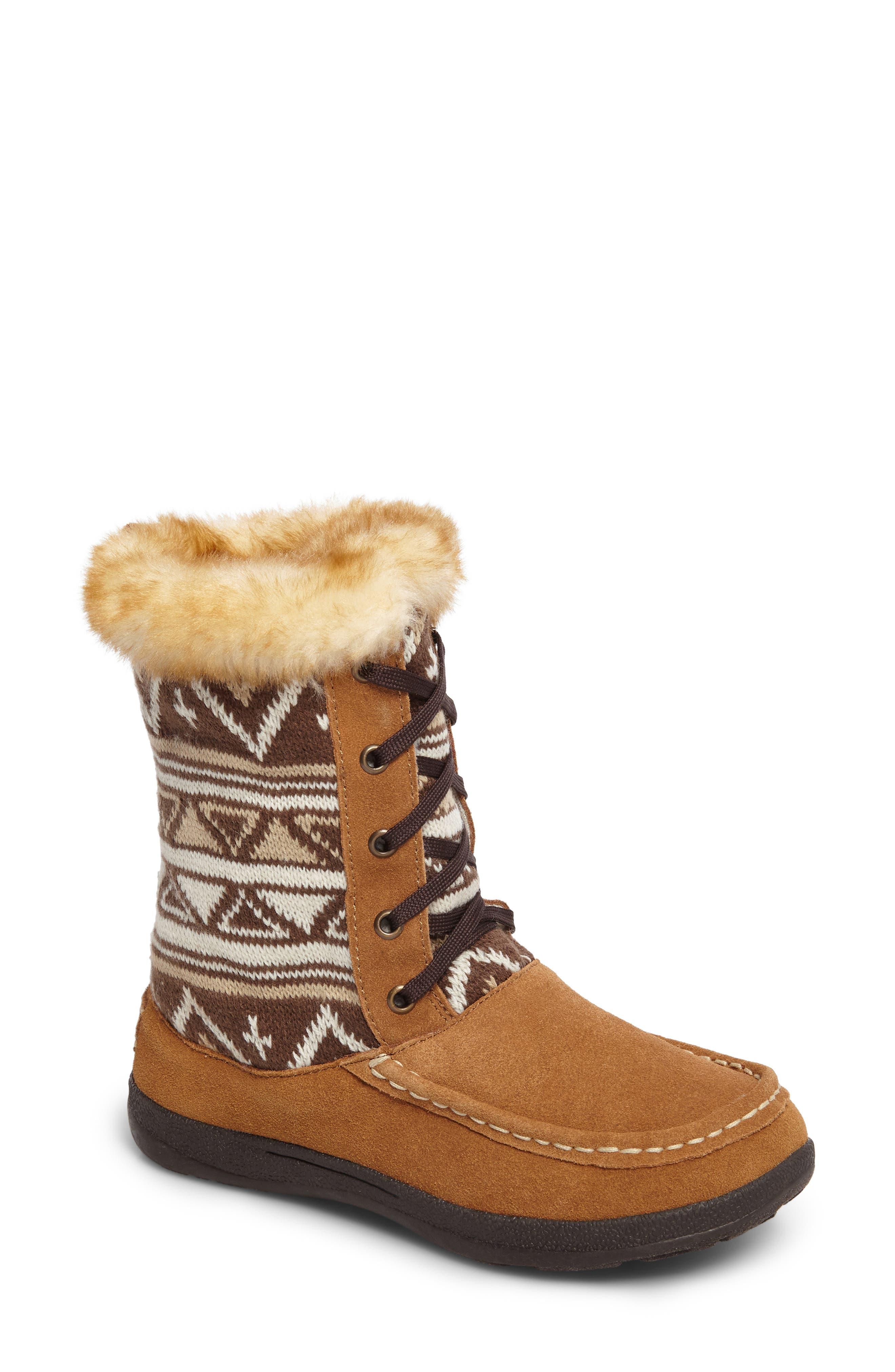 Doe Creek II Faux Fur Trim Boot,                             Main thumbnail 3, color,