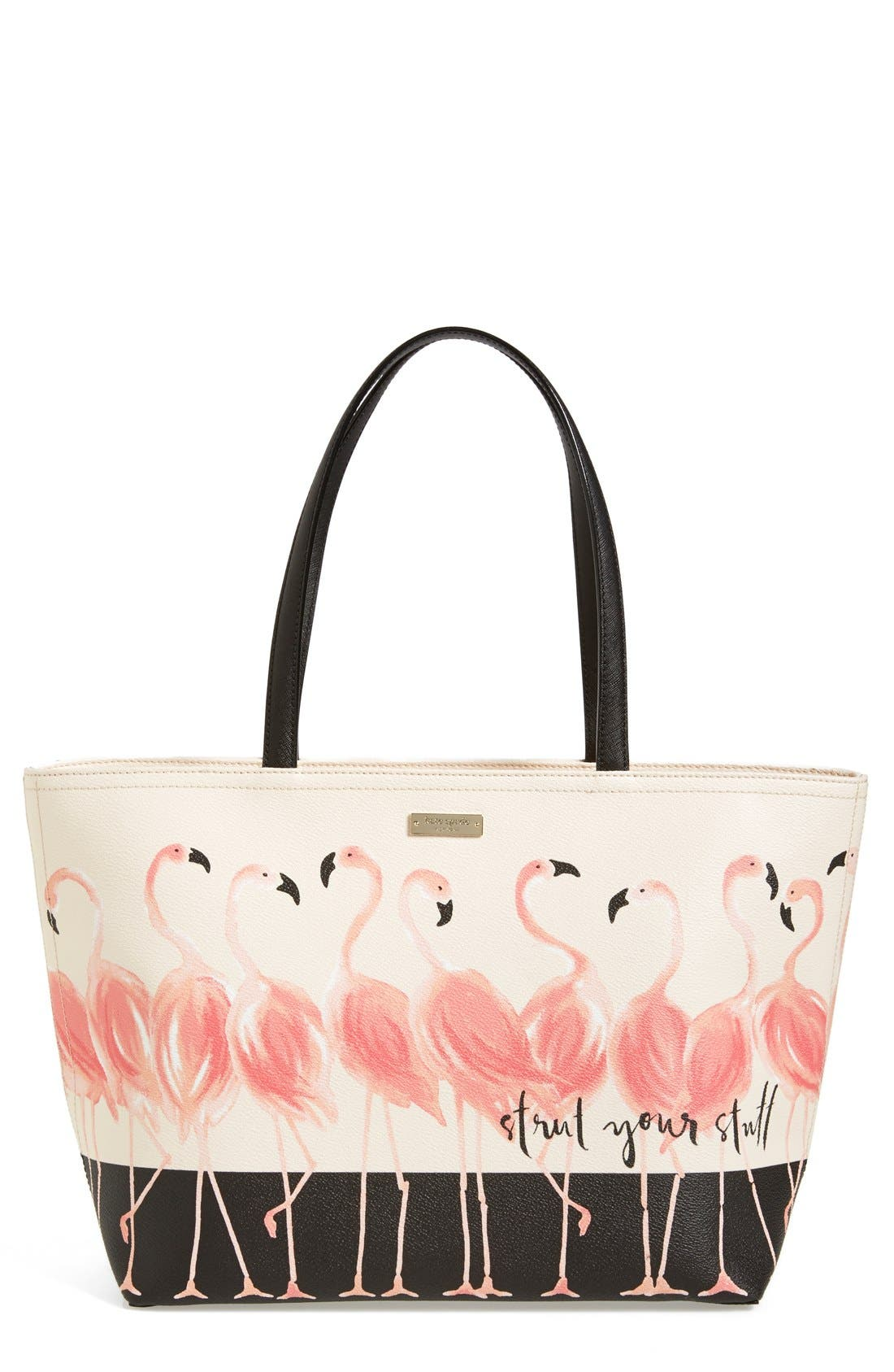 KATE SPADE NEW YORK 'strut your stuff - francis' tote, Main, color, 100
