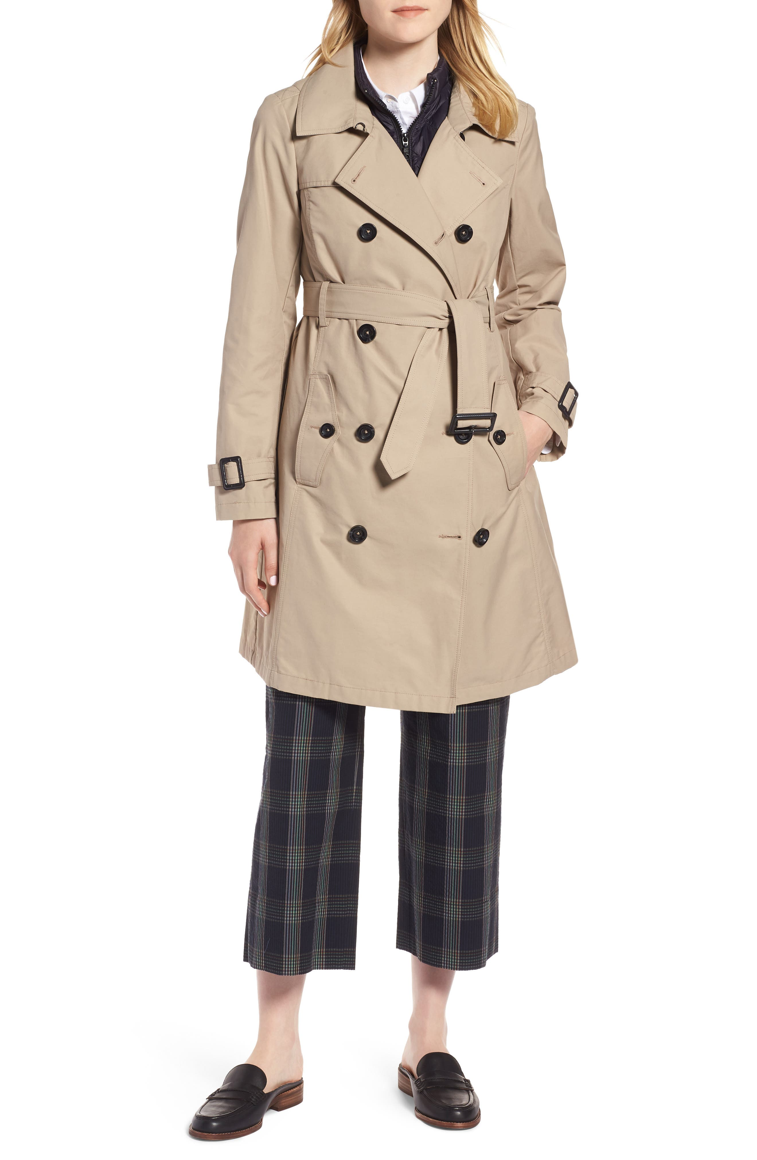 3-in-1 Trench Coat with Vest,                             Main thumbnail 1, color,                             299
